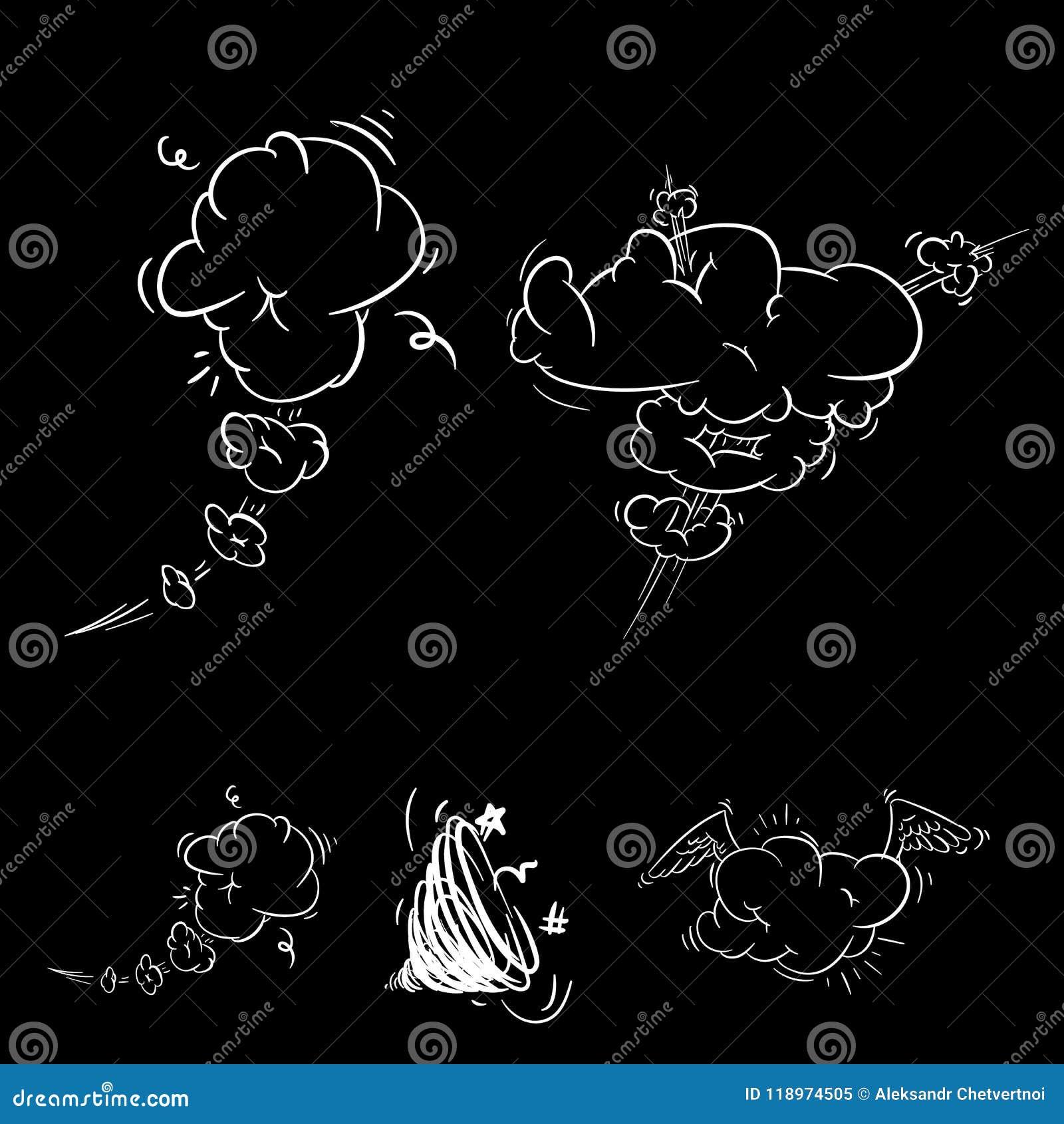 Grande insieme del fumetto, fumetti comici, nuvole vuote di dialogo nello schiocco Art Style Illustrazione di vettore per il libr