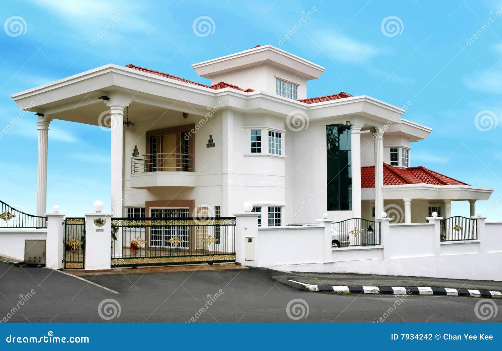 Grande maison moderne photographie stock image 7934242 for Grande maison moderne