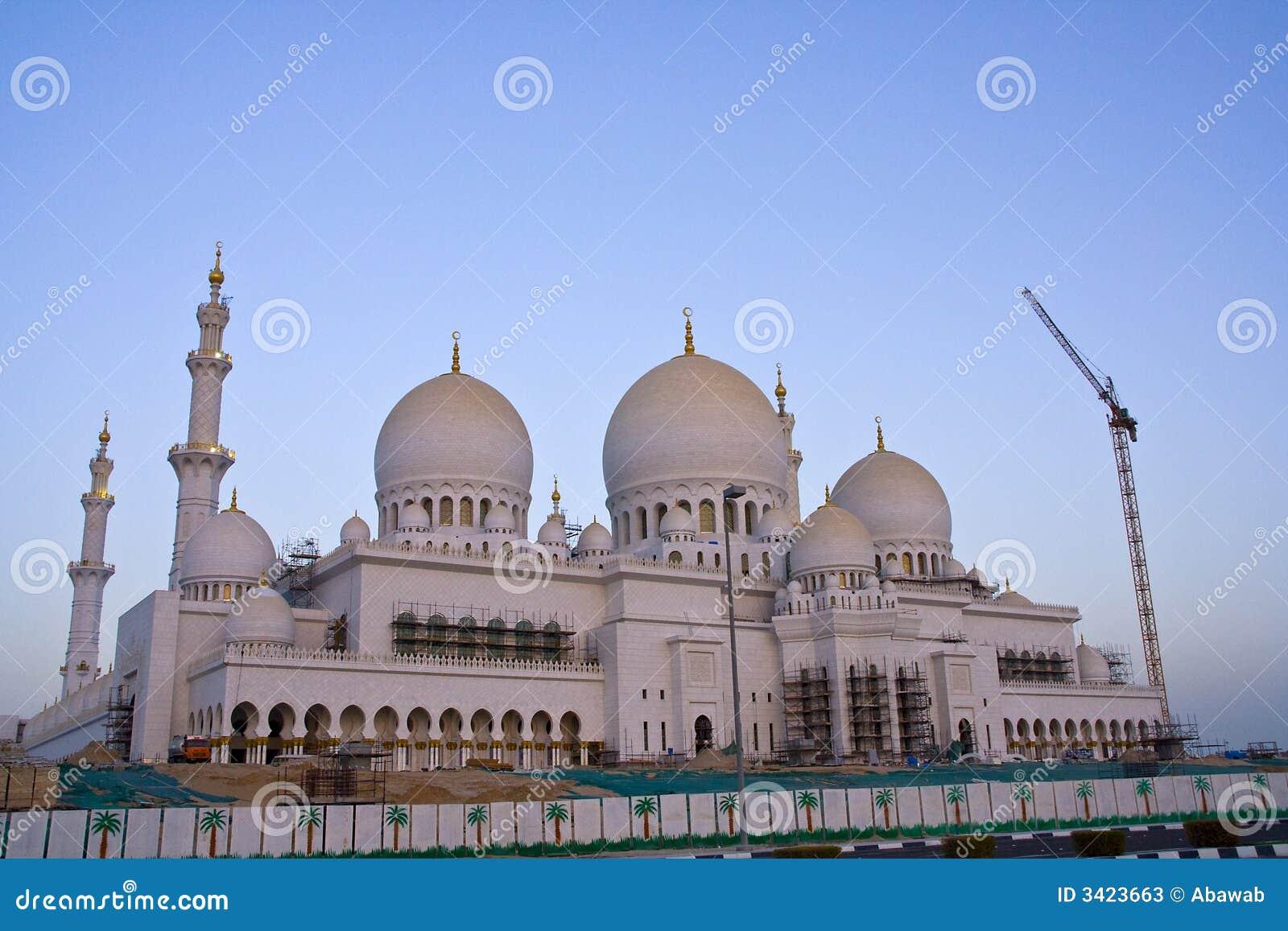 Grande moschea abu dhabi immagine stock immagine di - Le fiere piu importanti nel mondo ...