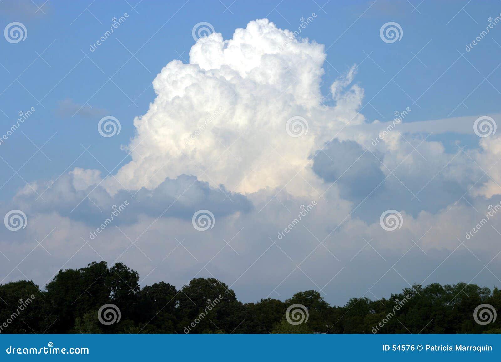 Grande nube bianca