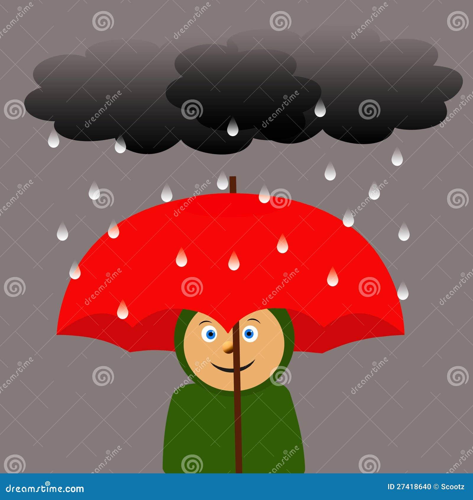 Grande ombrello rosso