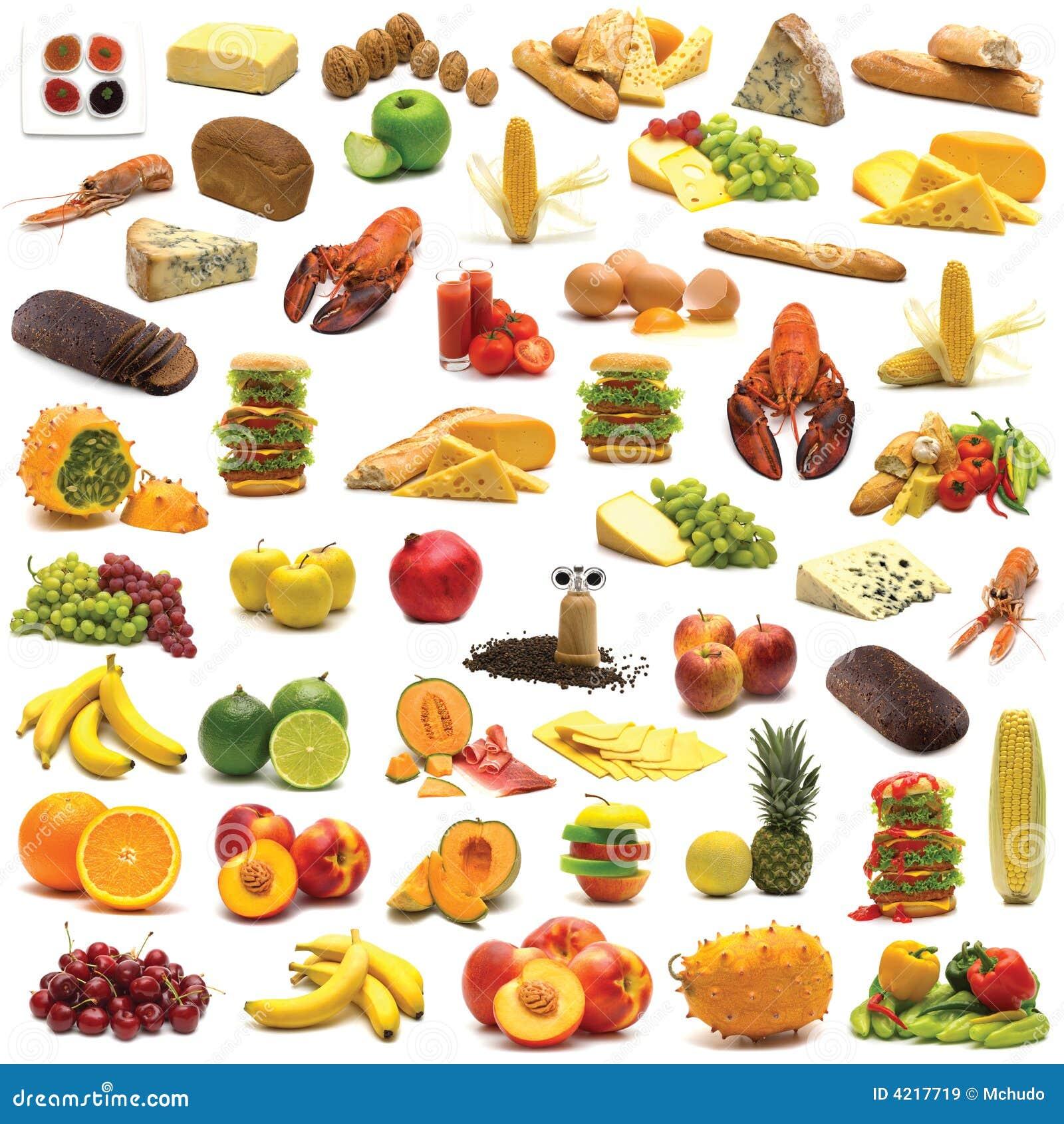 Grande pagina dell assortimento dell alimento