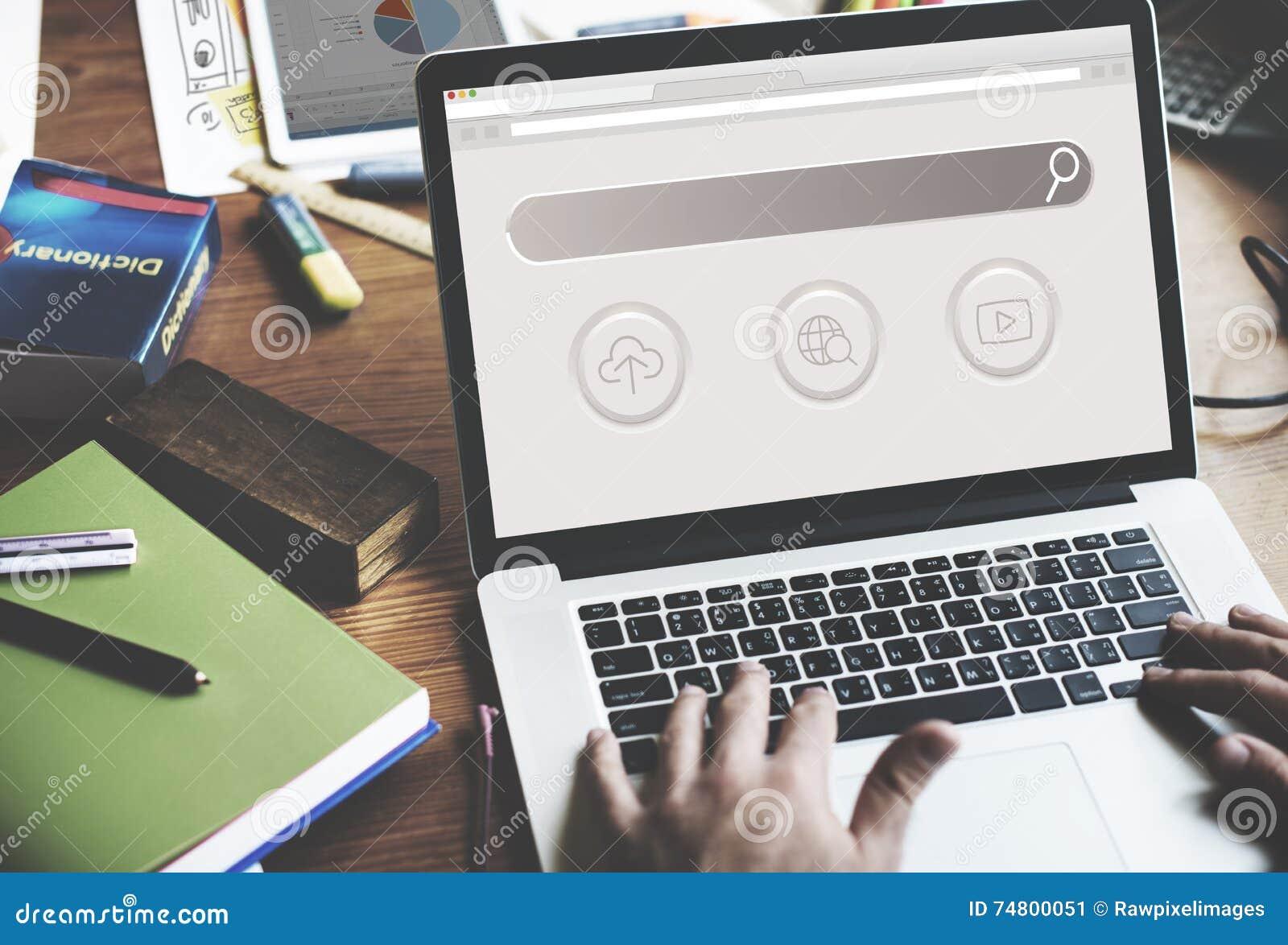 Grande pagina Web SEO Concept di dominio di dati