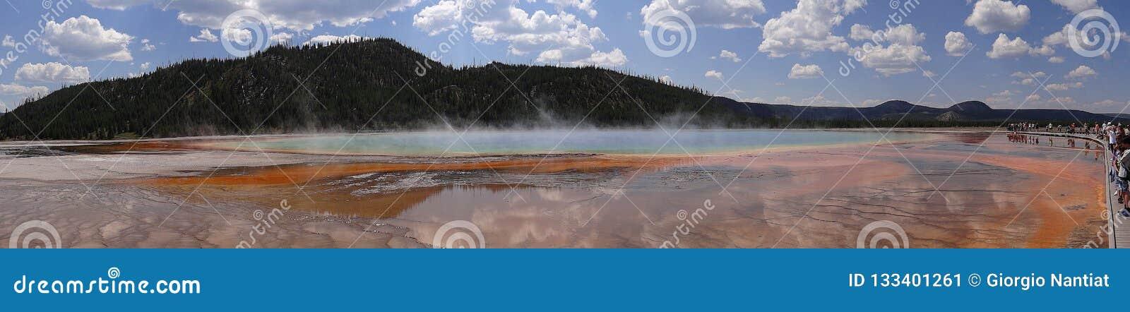 Grande panorama prismatico della sorgente