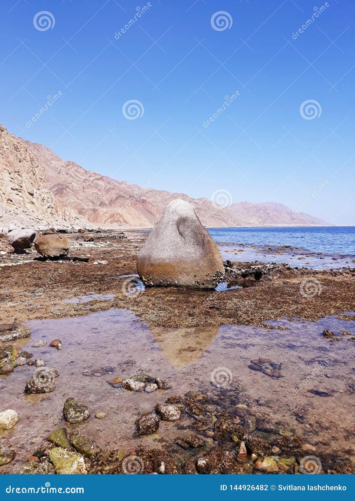Grande pierre par la Mer Rouge
