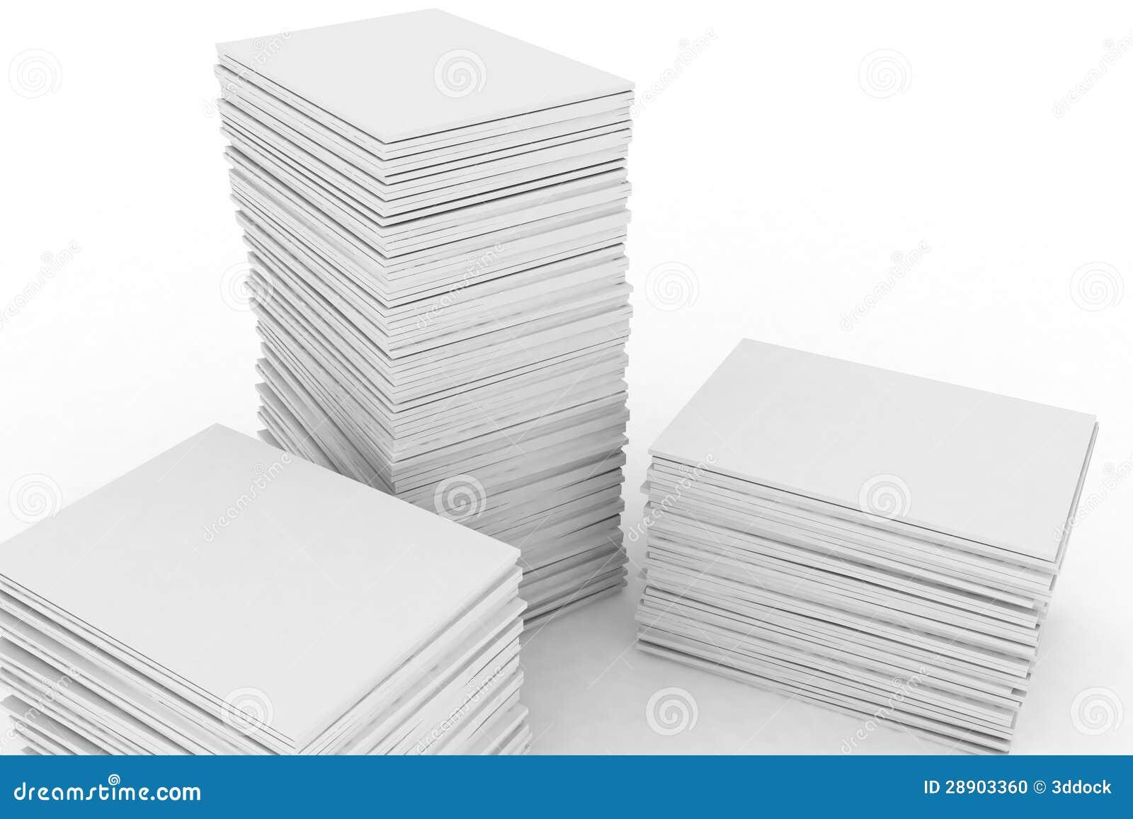 grande pile de papier illustration stock image du bureau 28903360. Black Bedroom Furniture Sets. Home Design Ideas
