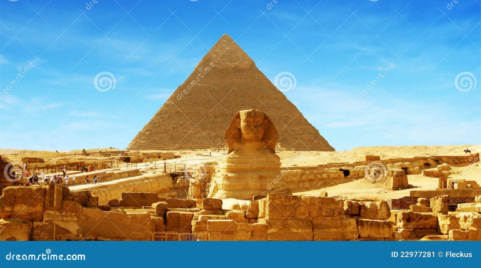 Grande piramide - panorama Giza, Egitto
