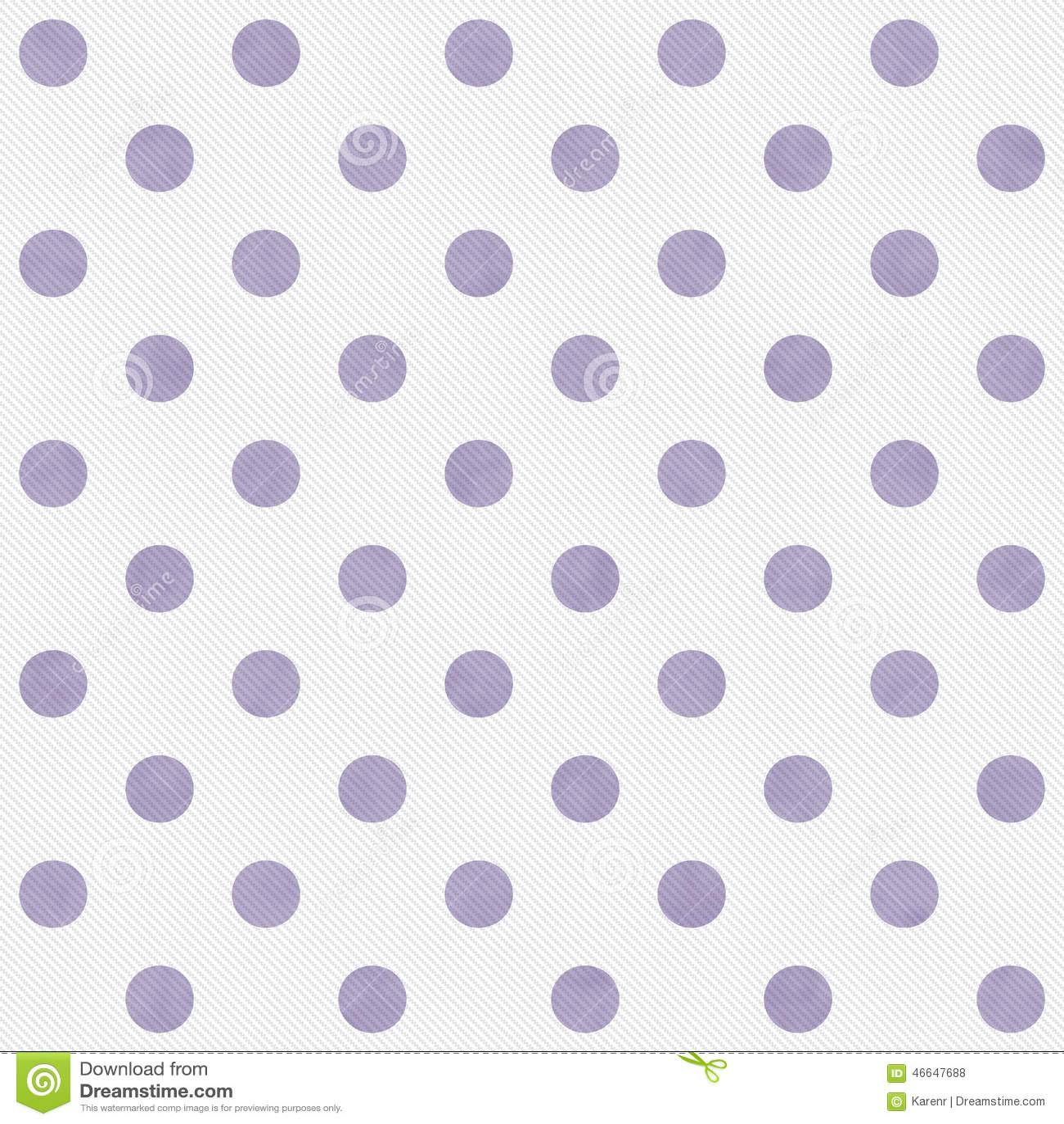 Grande polca roxa e branca Dots Pattern Repeat Background
