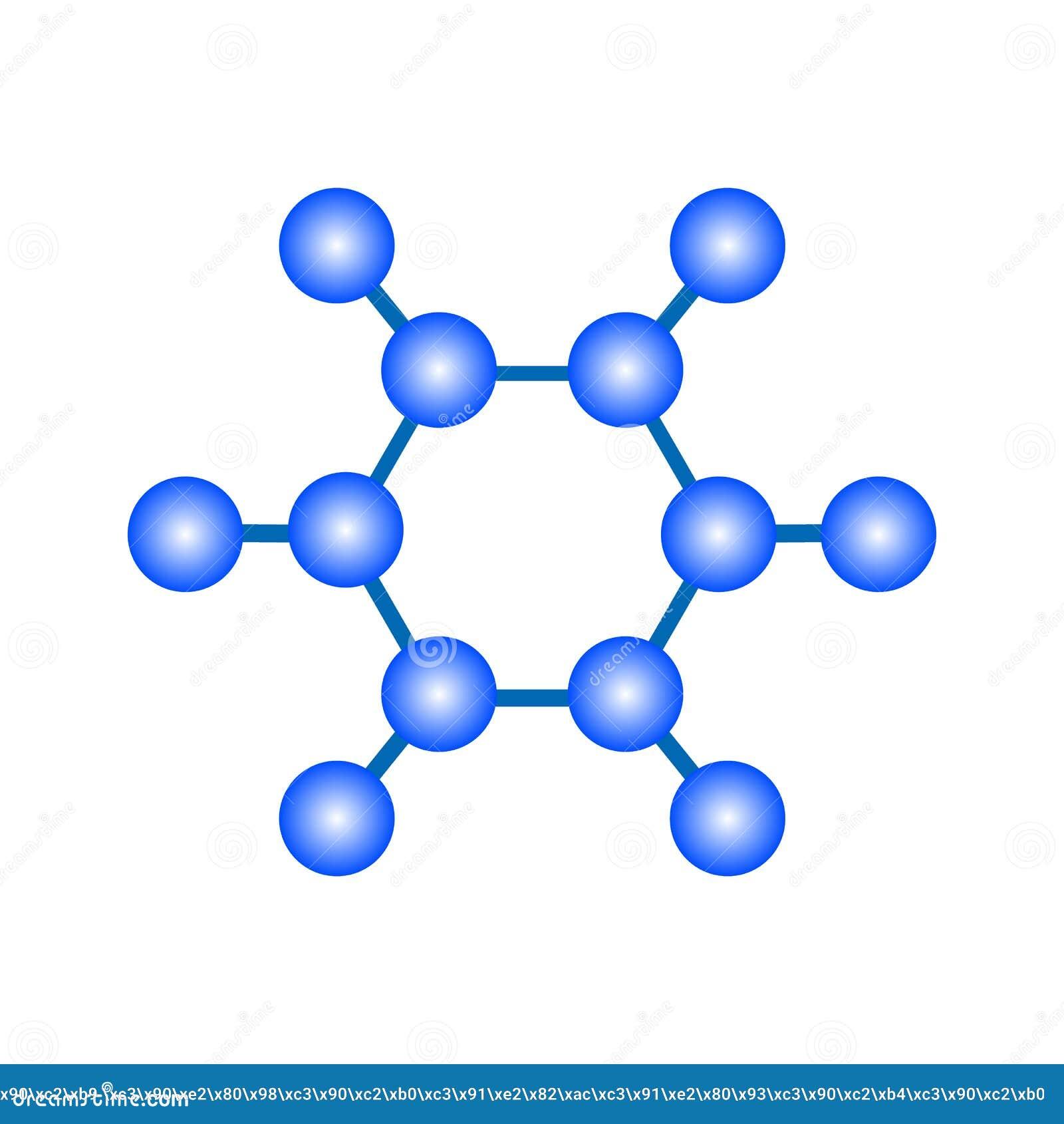 Grande progettazione delle molecole blu su un fondo bianco