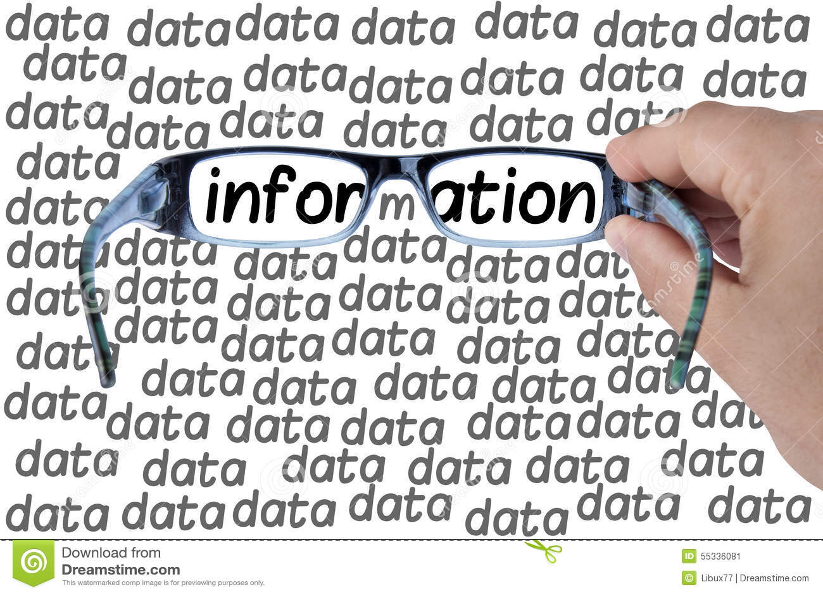 Grande ricerca di vetro di informazioni di dati isolato