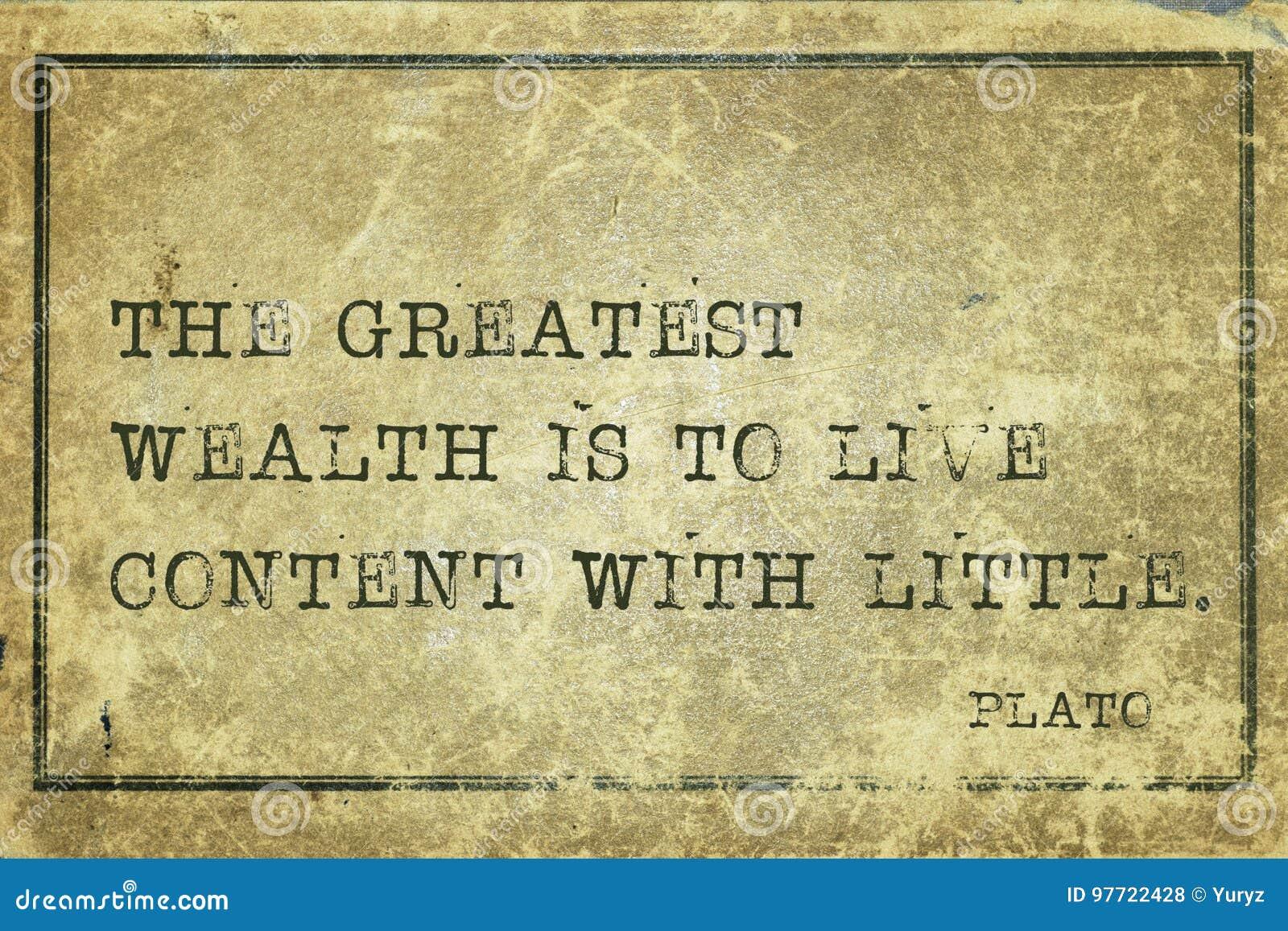 Grande riqueza Plato