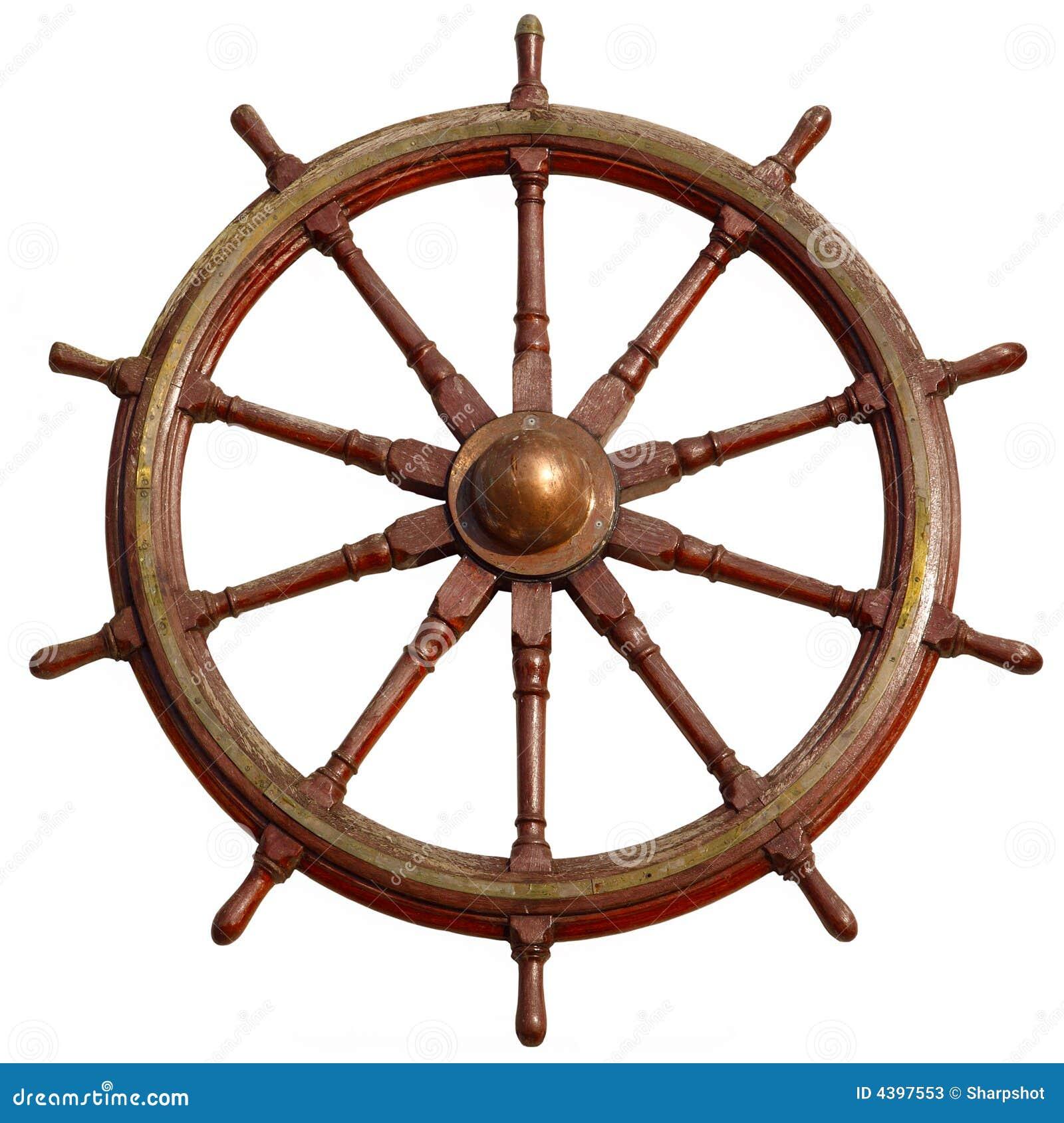 grande roue en bois de bateau image stock image 4397553. Black Bedroom Furniture Sets. Home Design Ideas