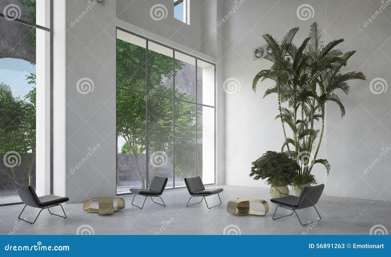 Grande sala di attesa o atrio spaziosa