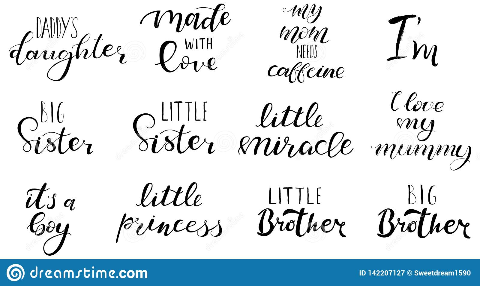 Grande soeur, frère, petit miracle, princesse