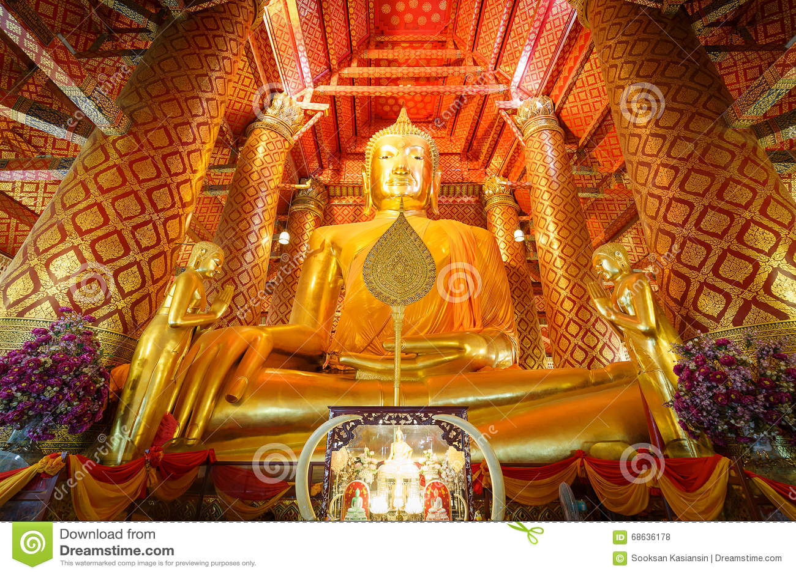 Grande statue de Bouddha d or