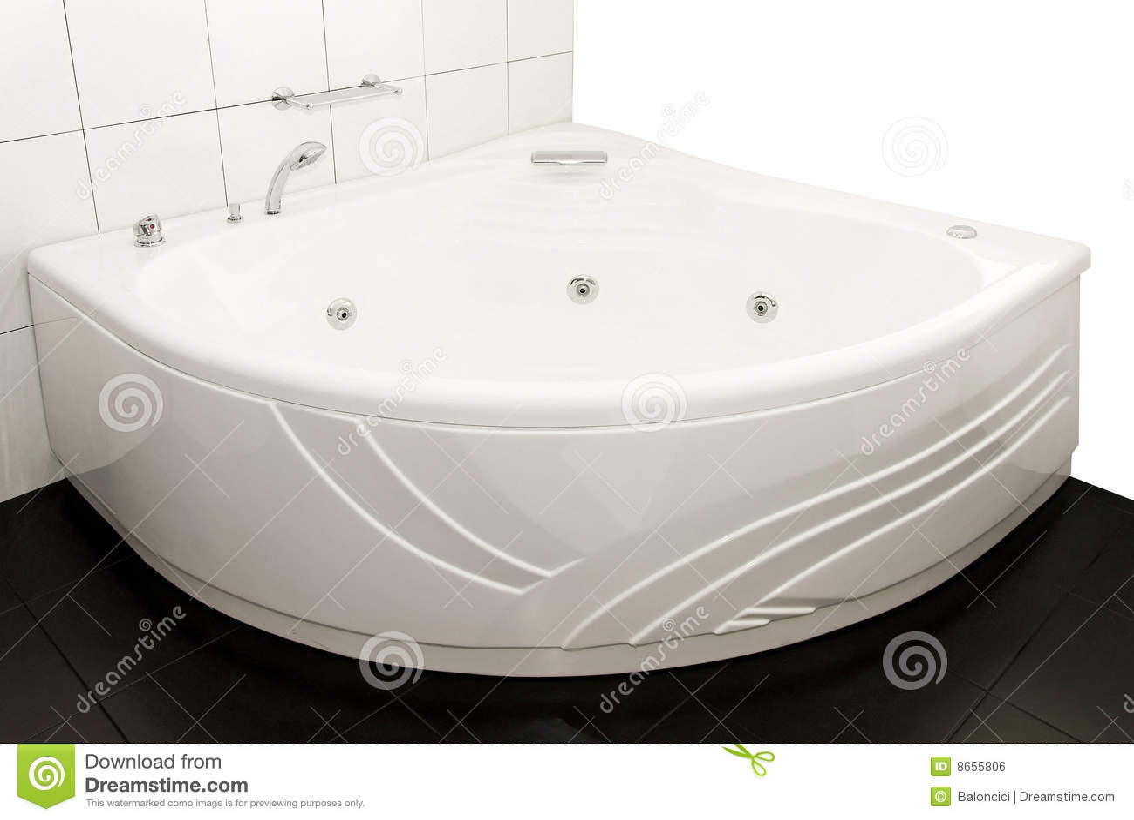 Grande vasca da bagno immagine stock libera da diritti - Vasca da bagno grande ...