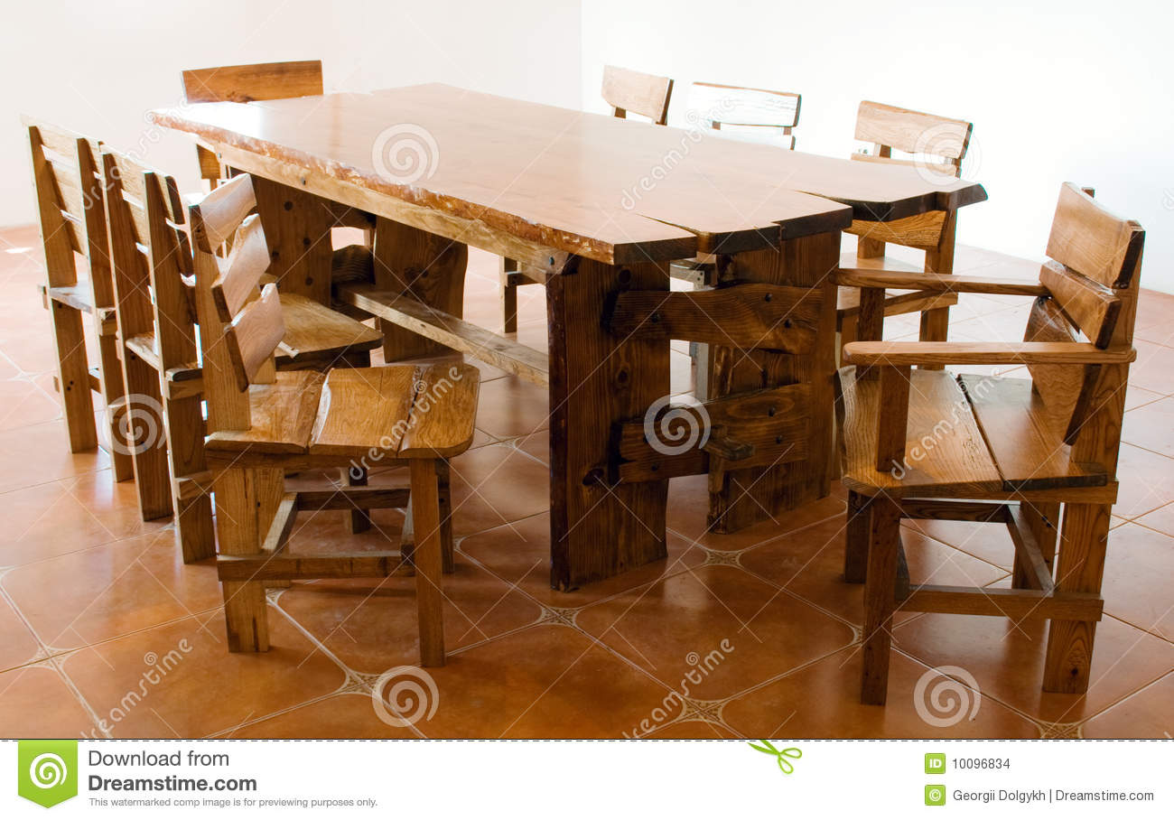 Grande vieille table en bois photo stock image 10096834 - Vieille table en bois ...