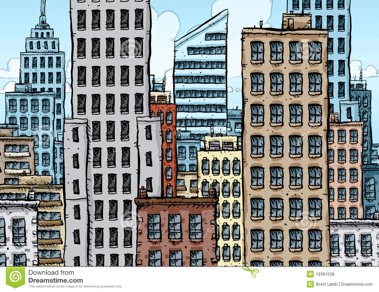 Grande ville de dessin anim illustration stock - Cuisiniste ville la grand ...