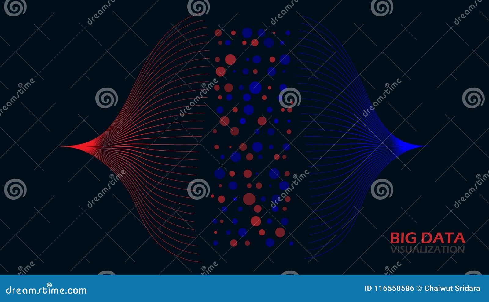 Grande visualisation de données d Analytics, analyse des données, transfert visuel