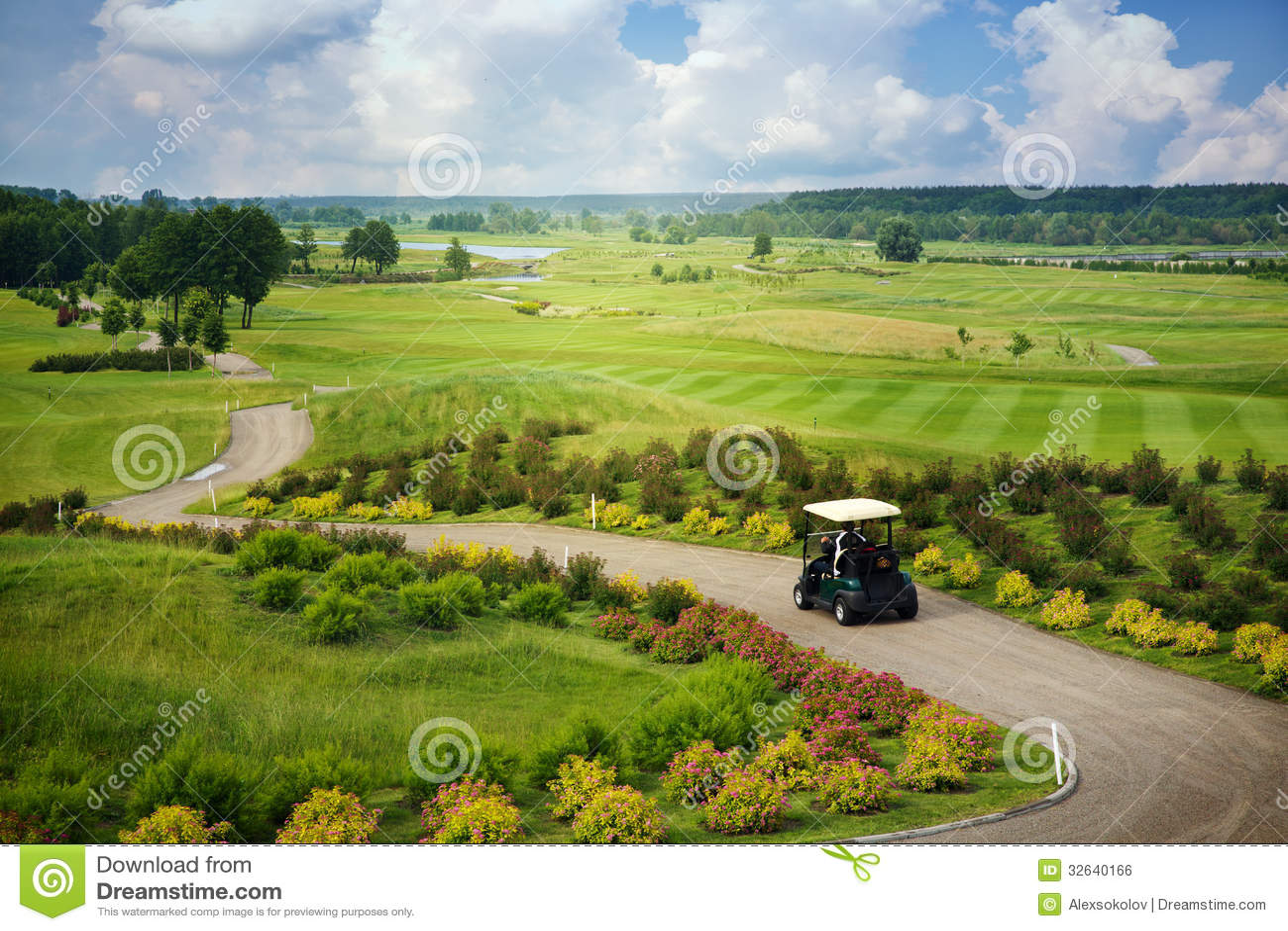 Grande vue au terrain de golf
