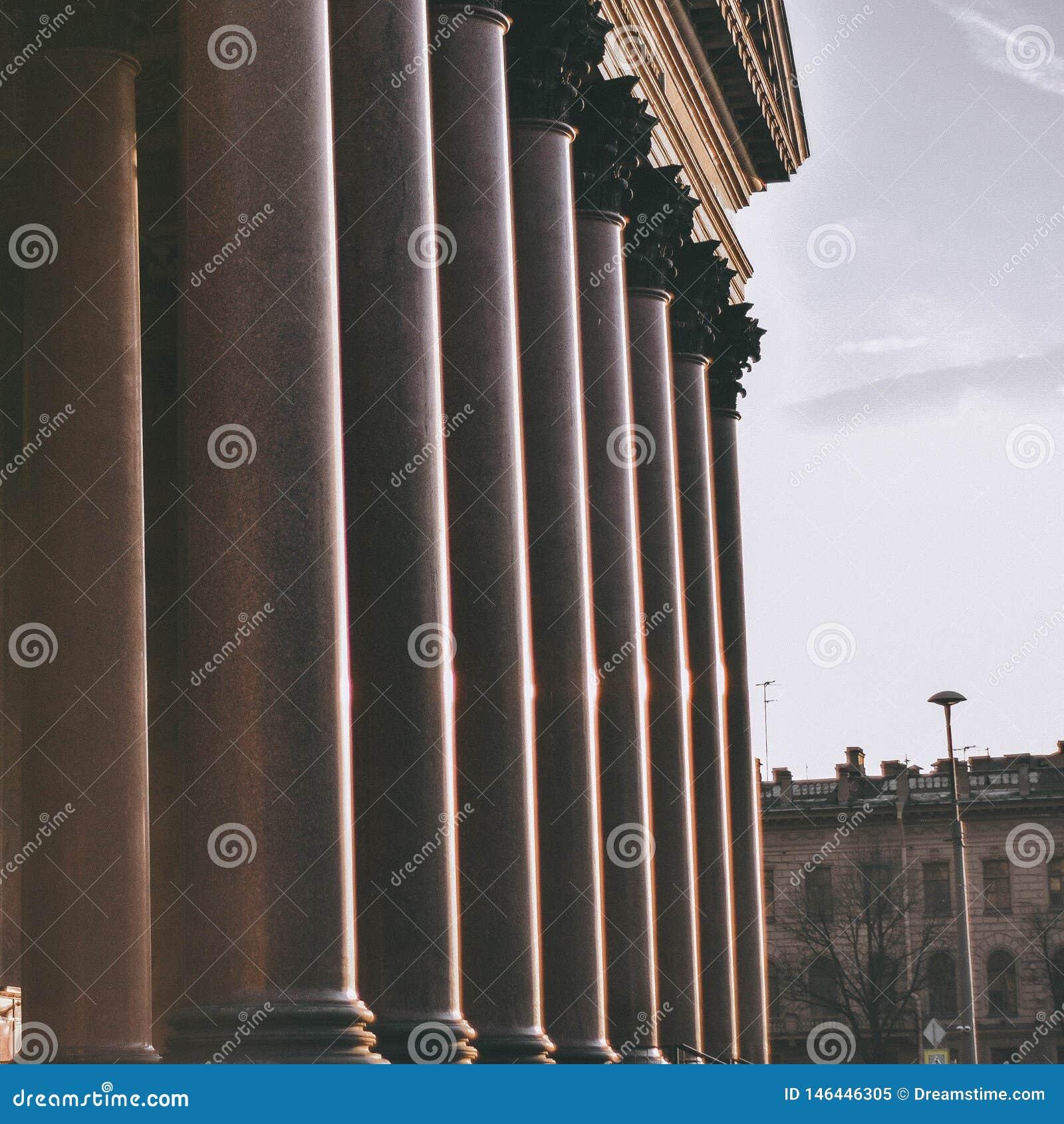 Grandes columnas de St Isaac