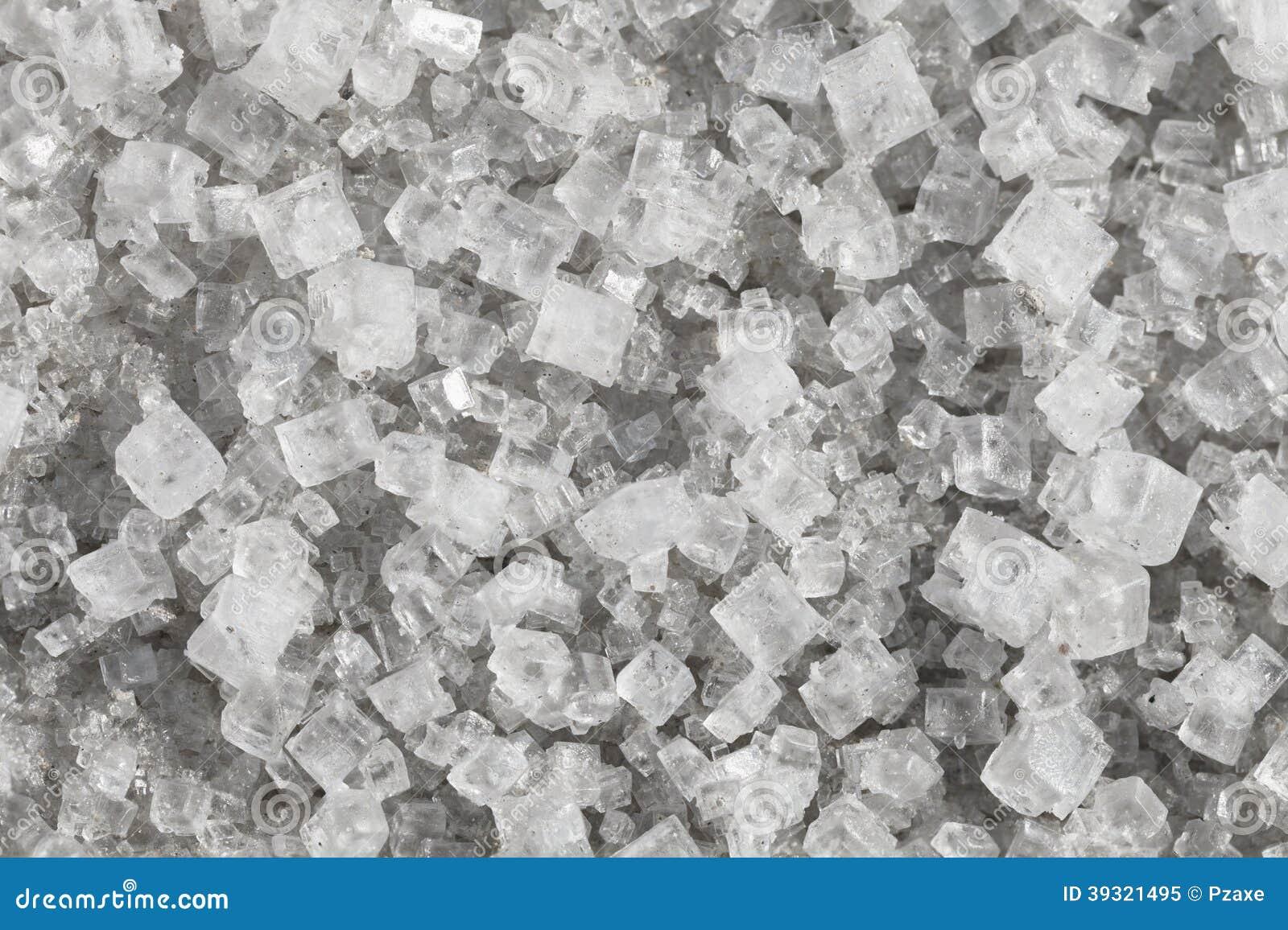 Grandes cristais do cloreto de sódio