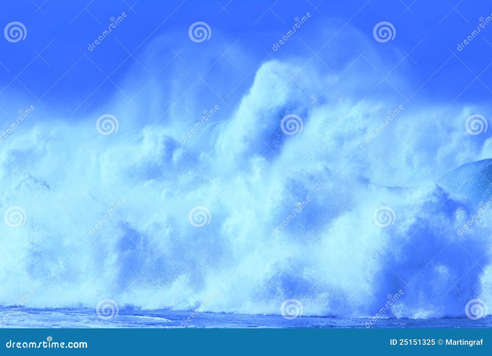 Grandes ondes de bleu
