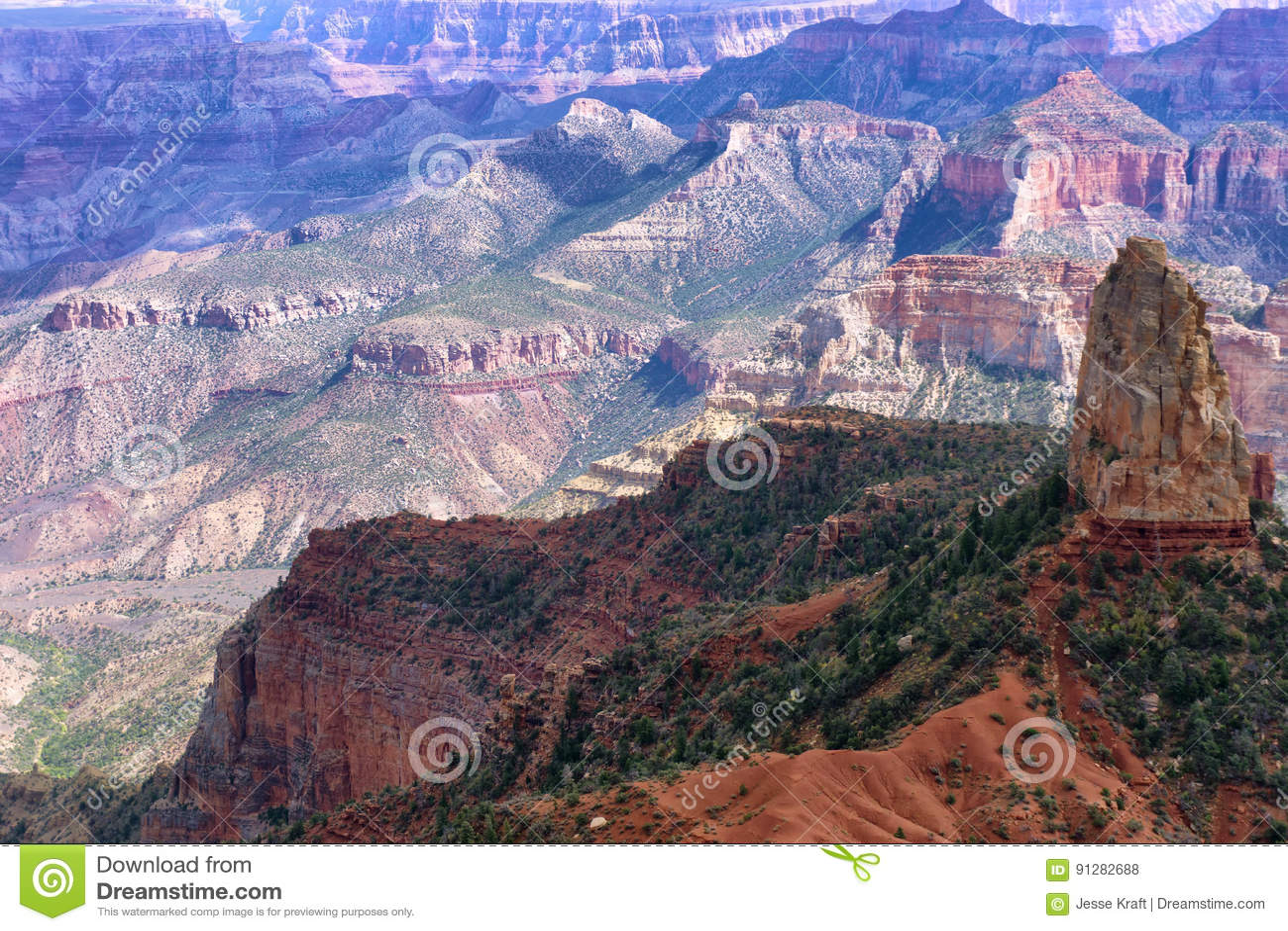 Grandet Canyon vaggar bildande
