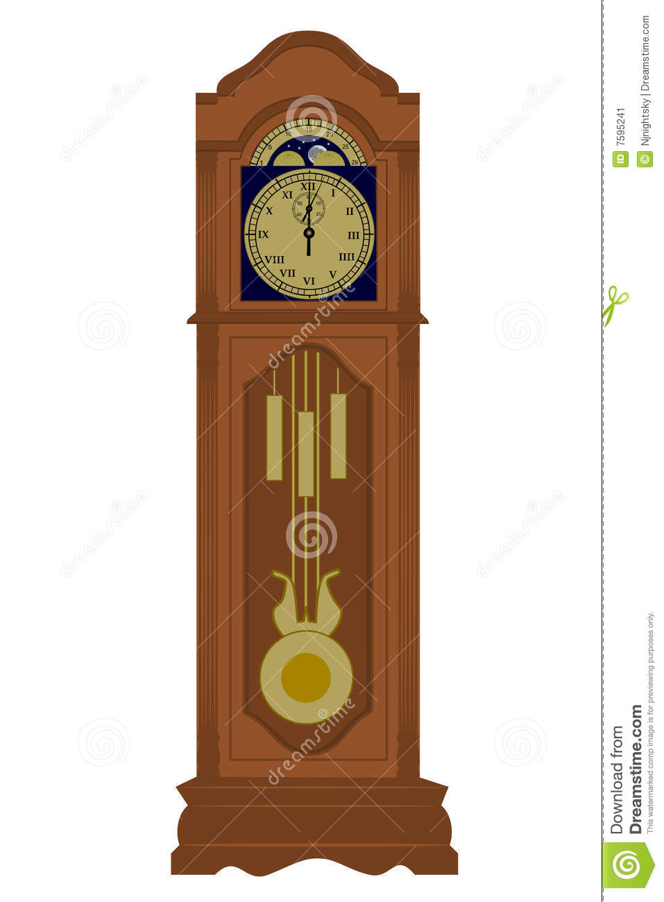 Grandfather Clock Stock Image - Image: 7595241