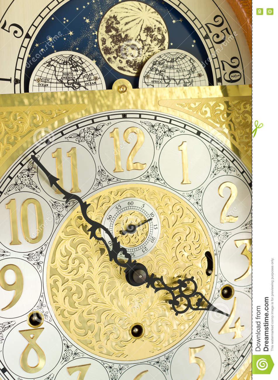 grandfather clock face moon. royaltyfree stock photo download grandfather clock face and moon n