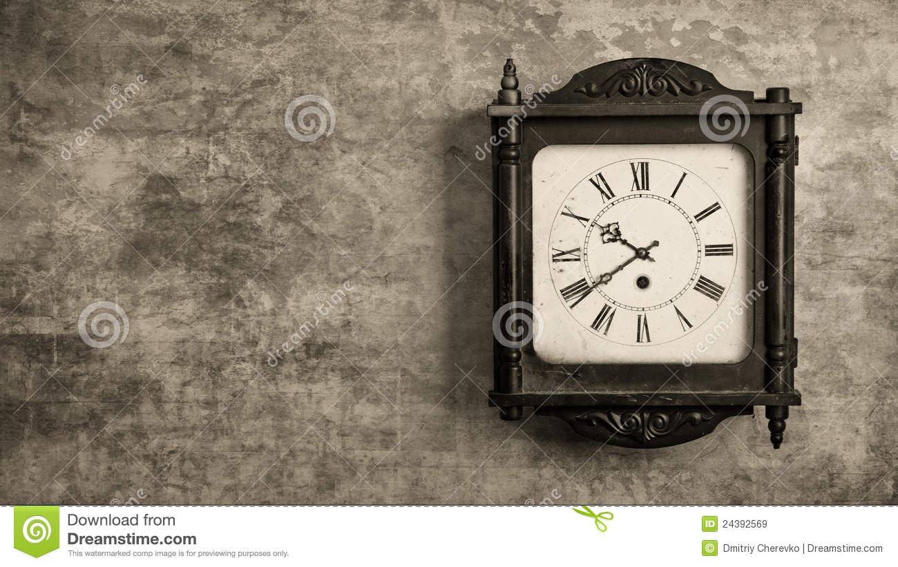 Grandfather clock hanging on a wall royalty free stock images image 24392569 - Wall hanging grandfather clock ...