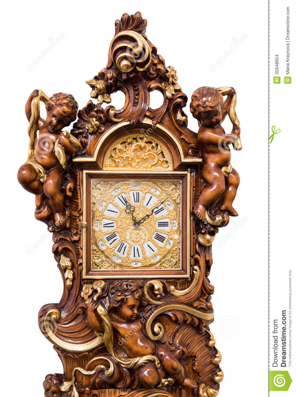 Grandfather Clock Stock Photo Image Of Ornate Fashion