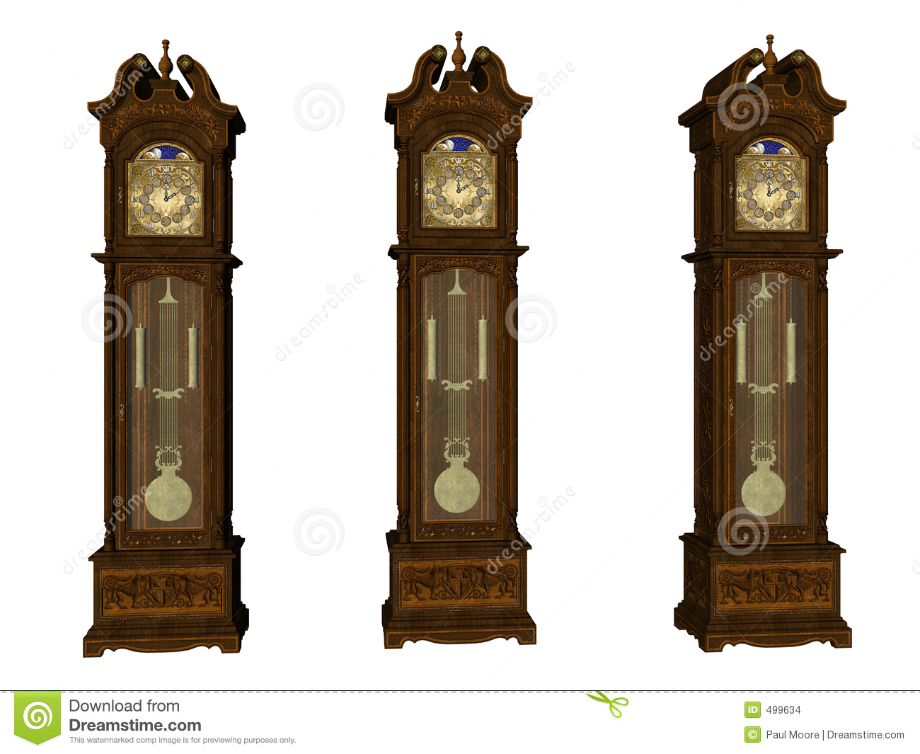 Grandfather Clocks Stock Images - Image: 499634