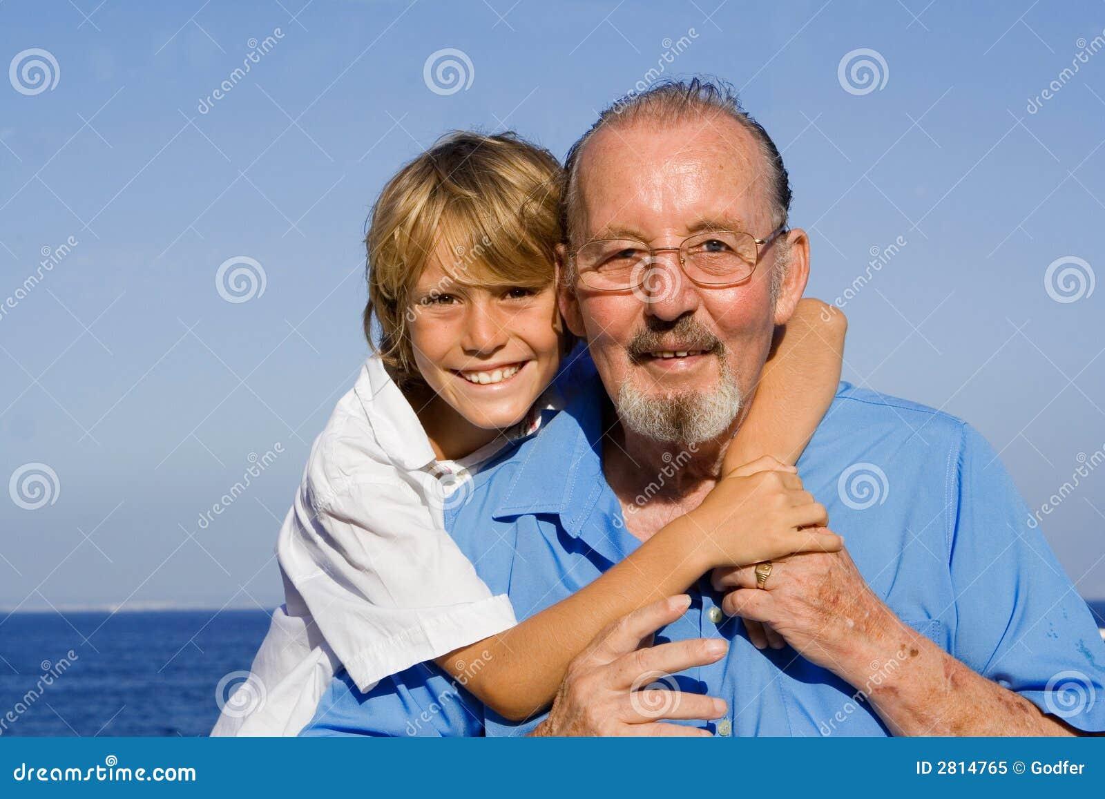 grandfather and grandchild stock image image of glasses 2814765