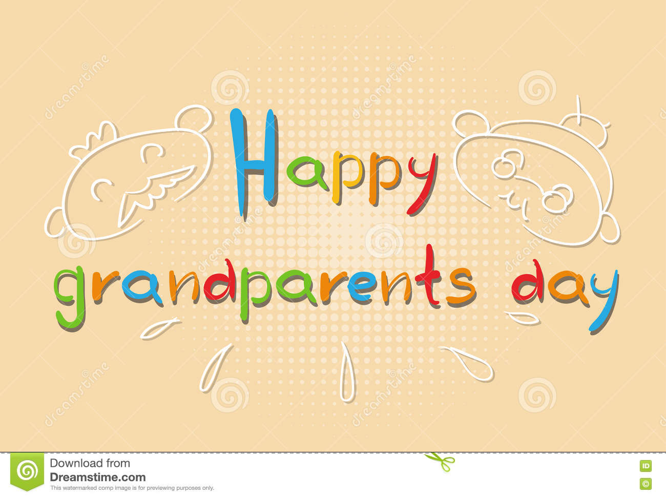 Grandfather With Grandmother Happy Grandparents Day Greeting Card