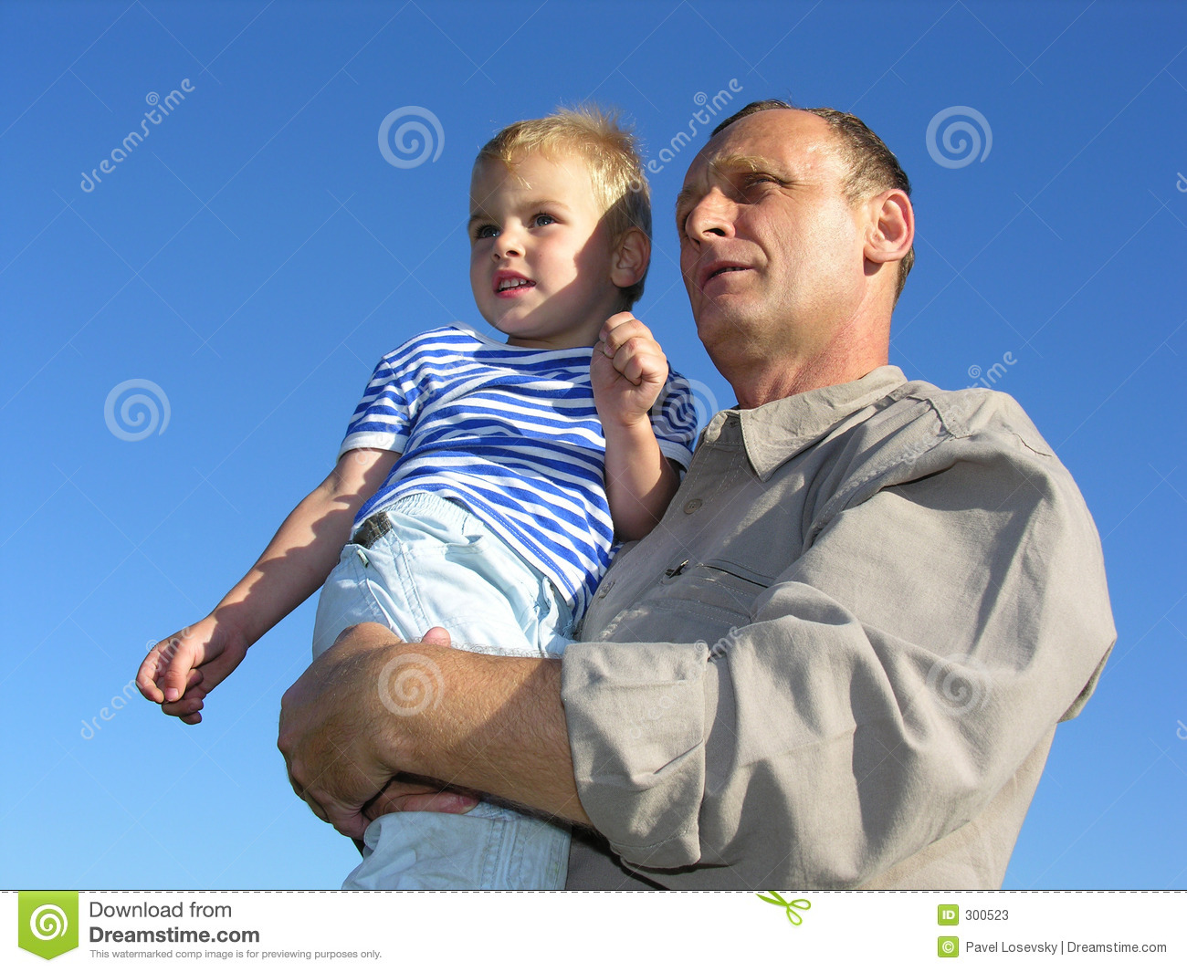 Grandfather with grandson 2