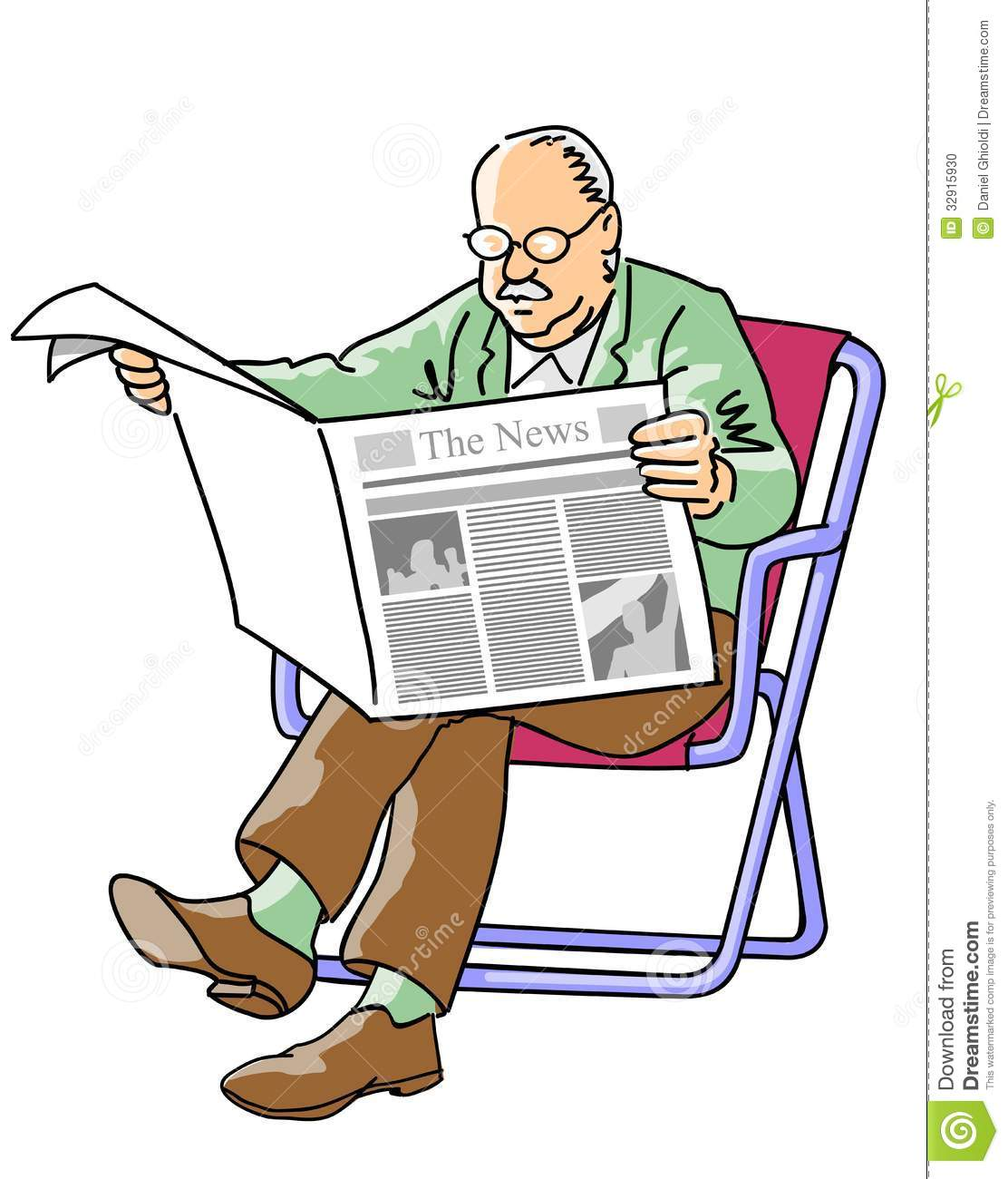 grandfather reading the newspaper stock photo image of paper reading 32915930. Black Bedroom Furniture Sets. Home Design Ideas