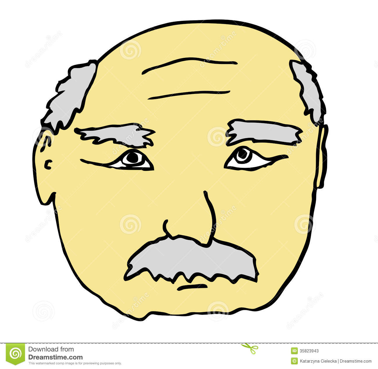 Cartoon grandfather face