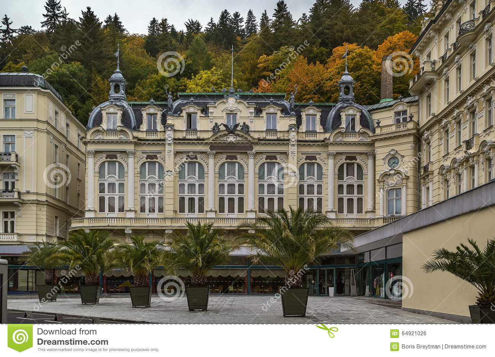 Grandhotel Pupp Karlovy Vary Tschechische Republik Stockfoto Bild Von Stadt Europa 64921026