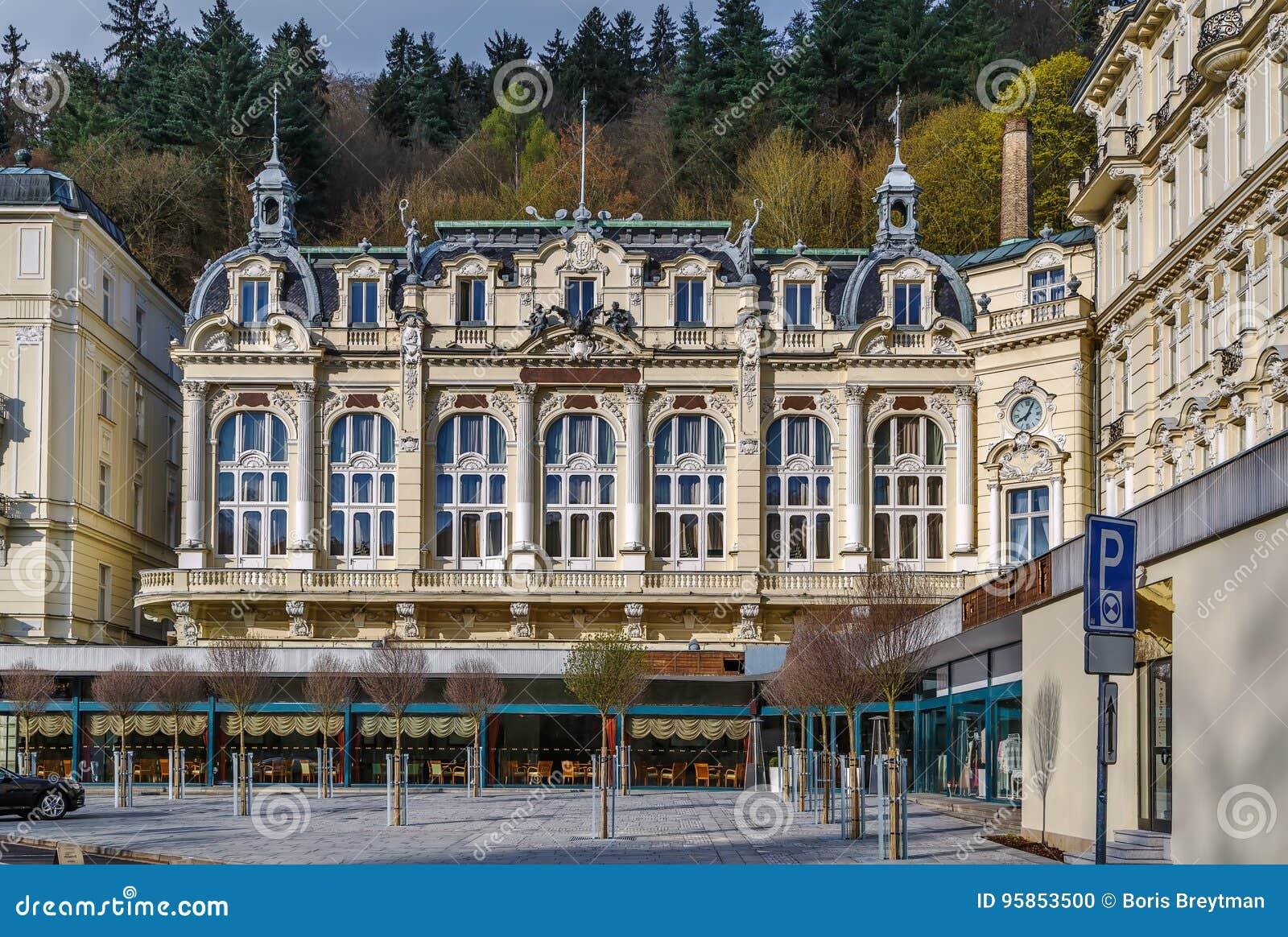 Grandhotel Pupp Karlovy Vary Tschechische Republik Redaktionelles Bild Bild Von Stadt Fassade 95853500