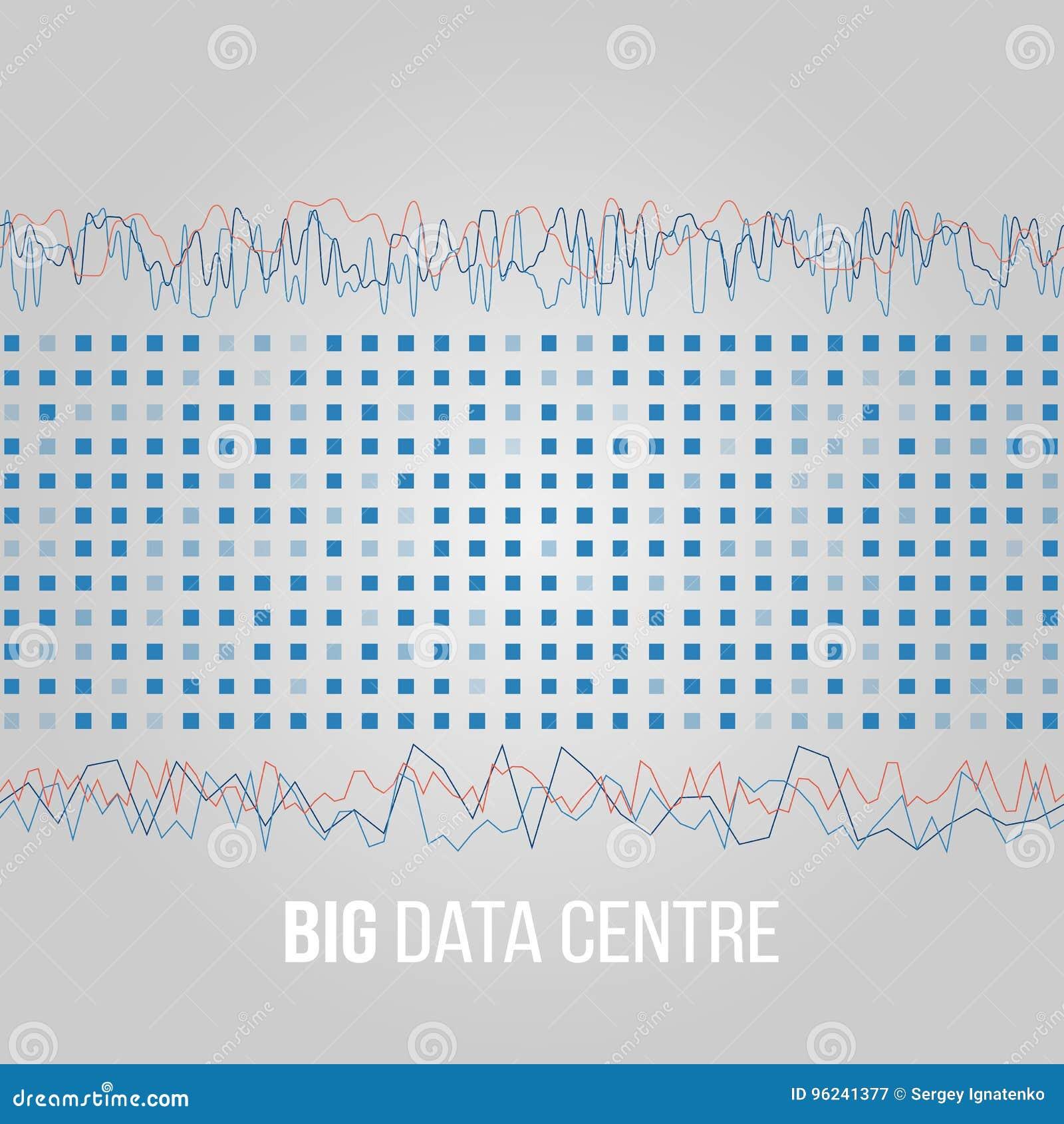 Grandi algoritmi di dati Analisi di progettazione di Minimalistic Infographics di informazioni Scienza, fondo di tecnologia Vetto