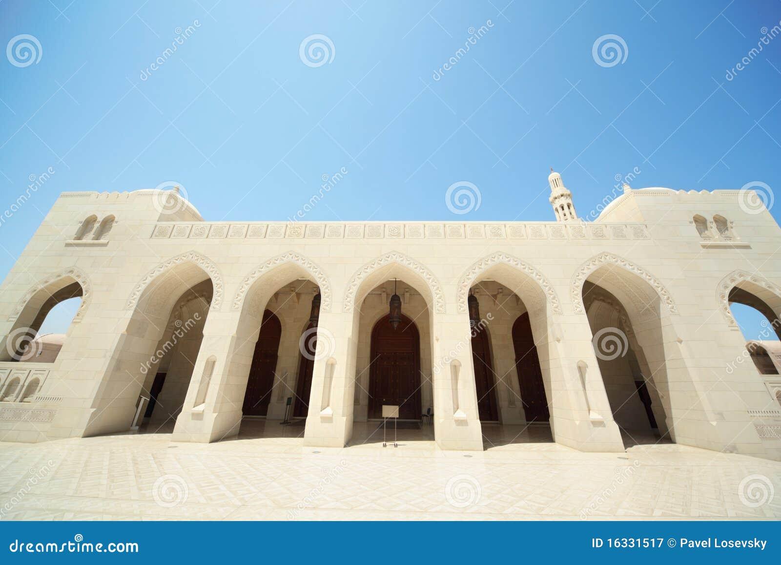 Grandi Archi Di Costruzione All'interno Della Moschea Grande Nell
