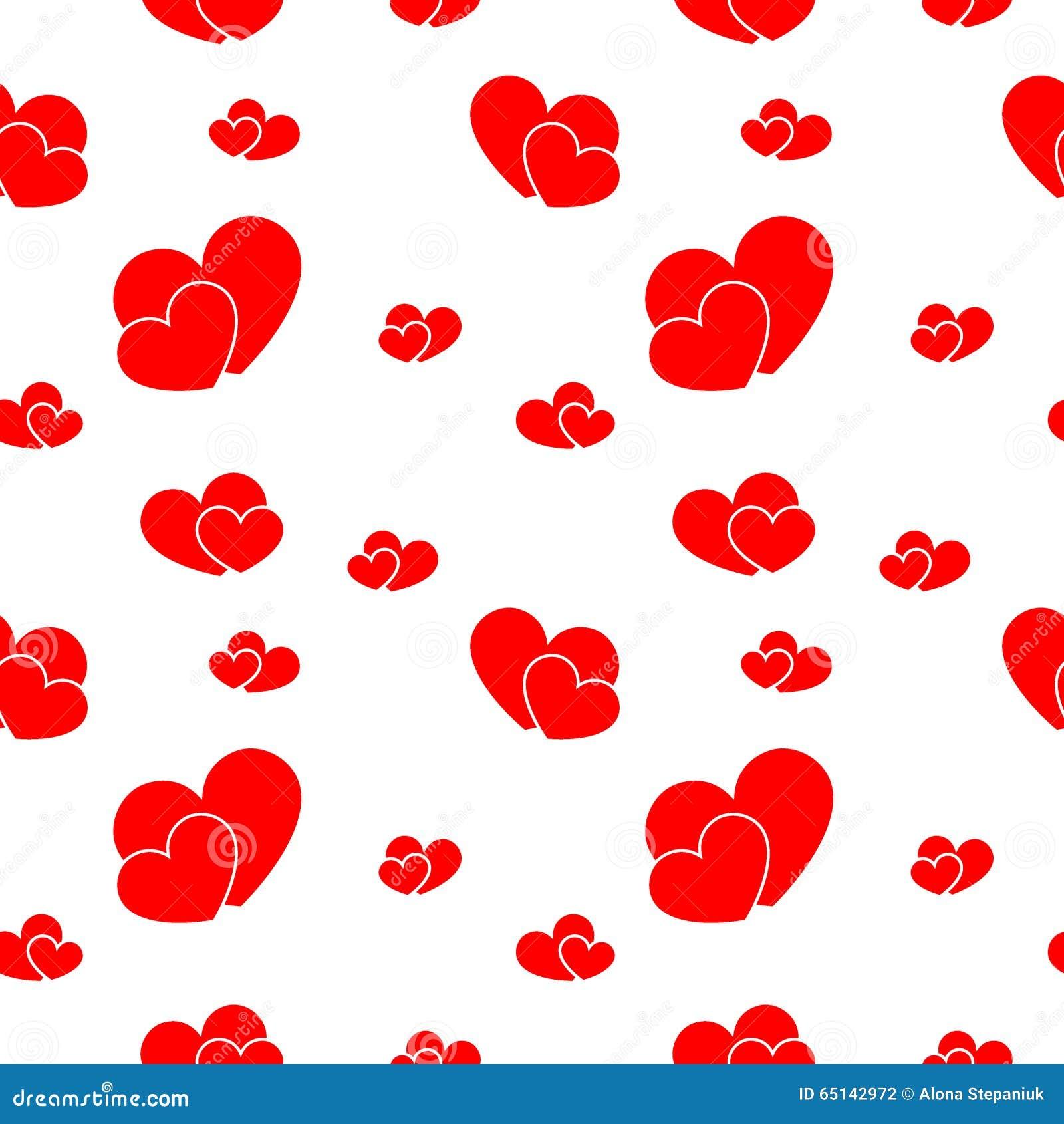 Grandi e piccoli cuori rossi illustrazione vettoriale for Immagini di cuori rossi