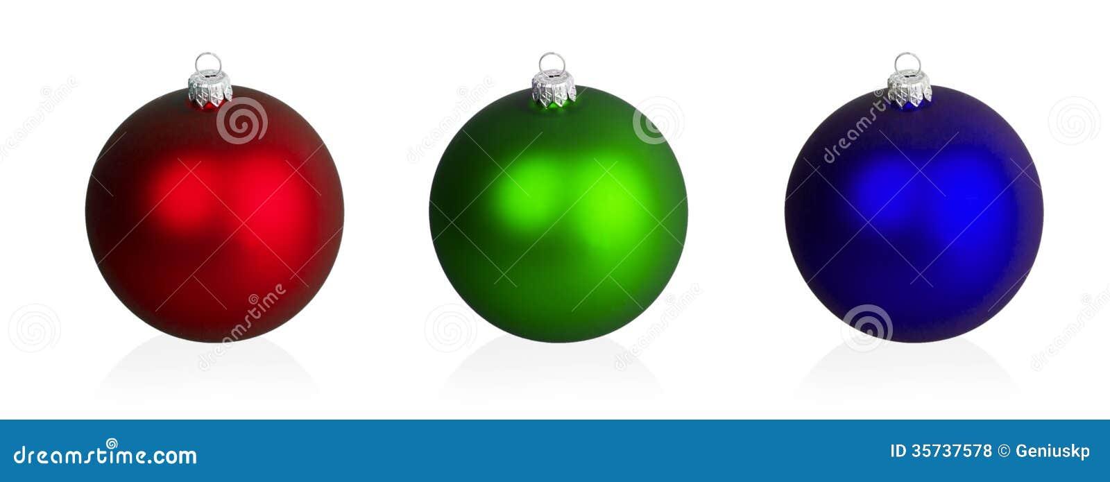 Palle Di Natale Grandi.Grandi Palle Rosse Verdi E Blu Di Natale Fotografia Stock