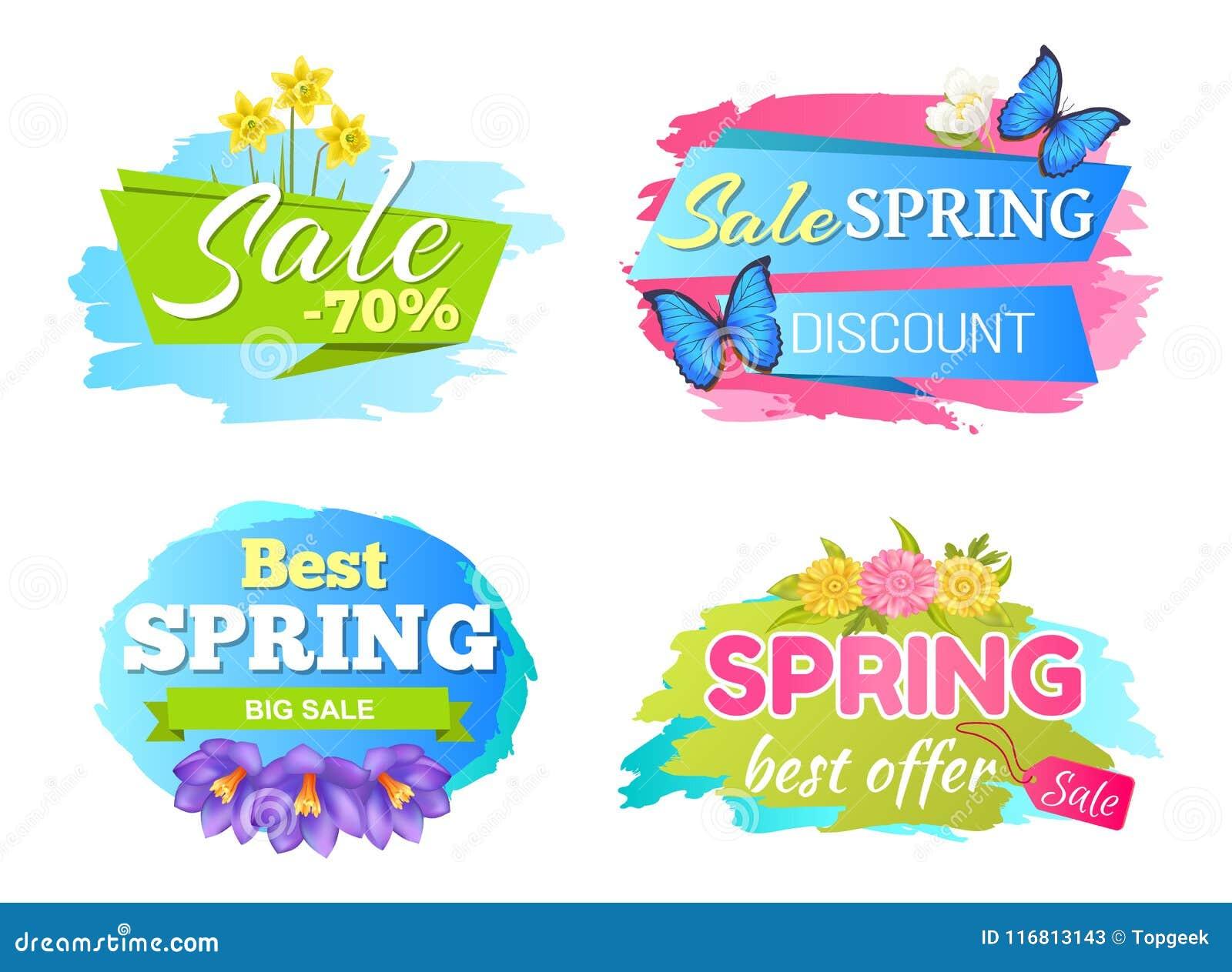 Grandi sconti di vendita della primavera 50 etichette messe manifesti