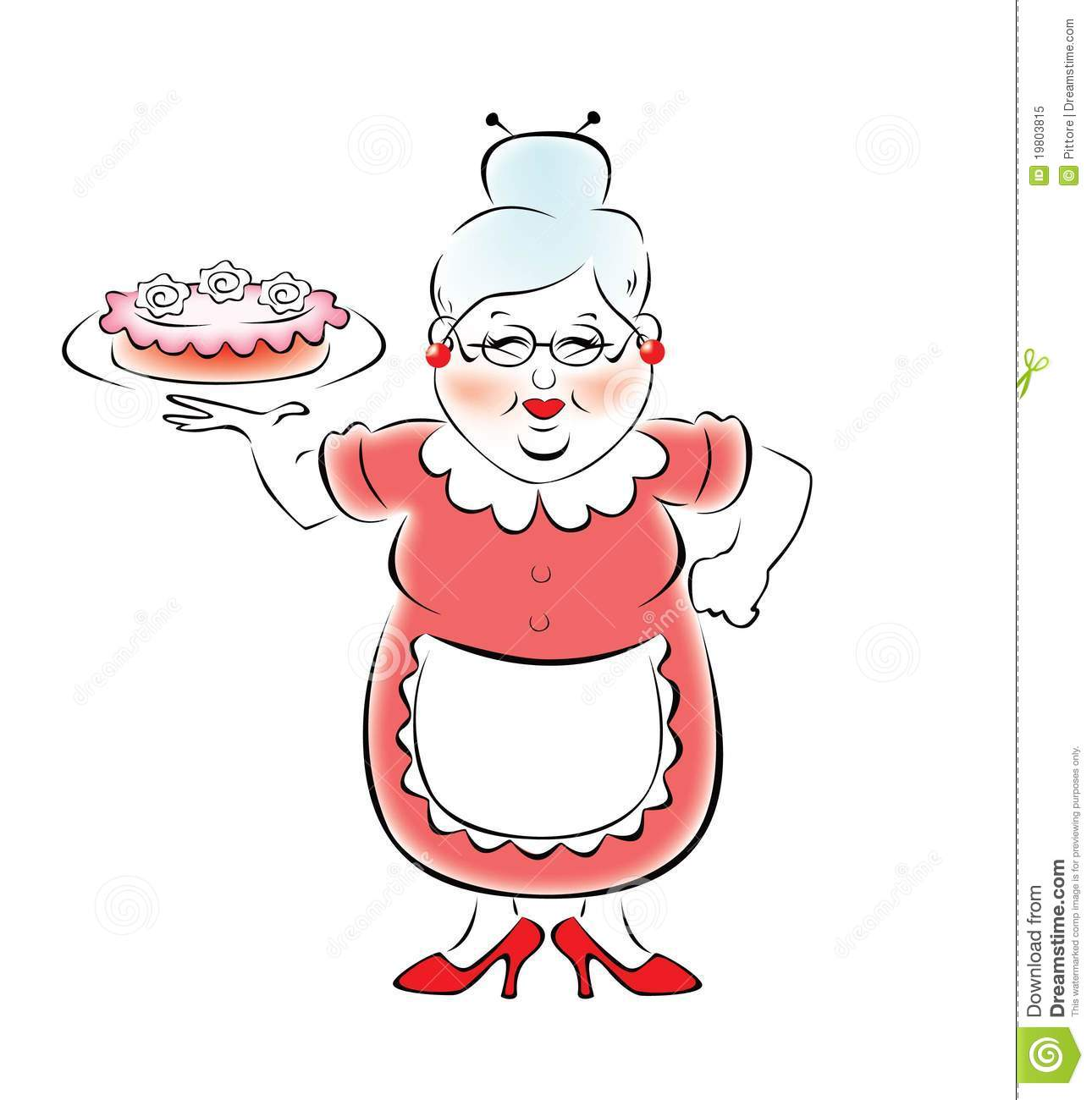 Delicious Cake Clipart : Grandma Baked A Delicious Cake Royalty Free Stock Photo ...