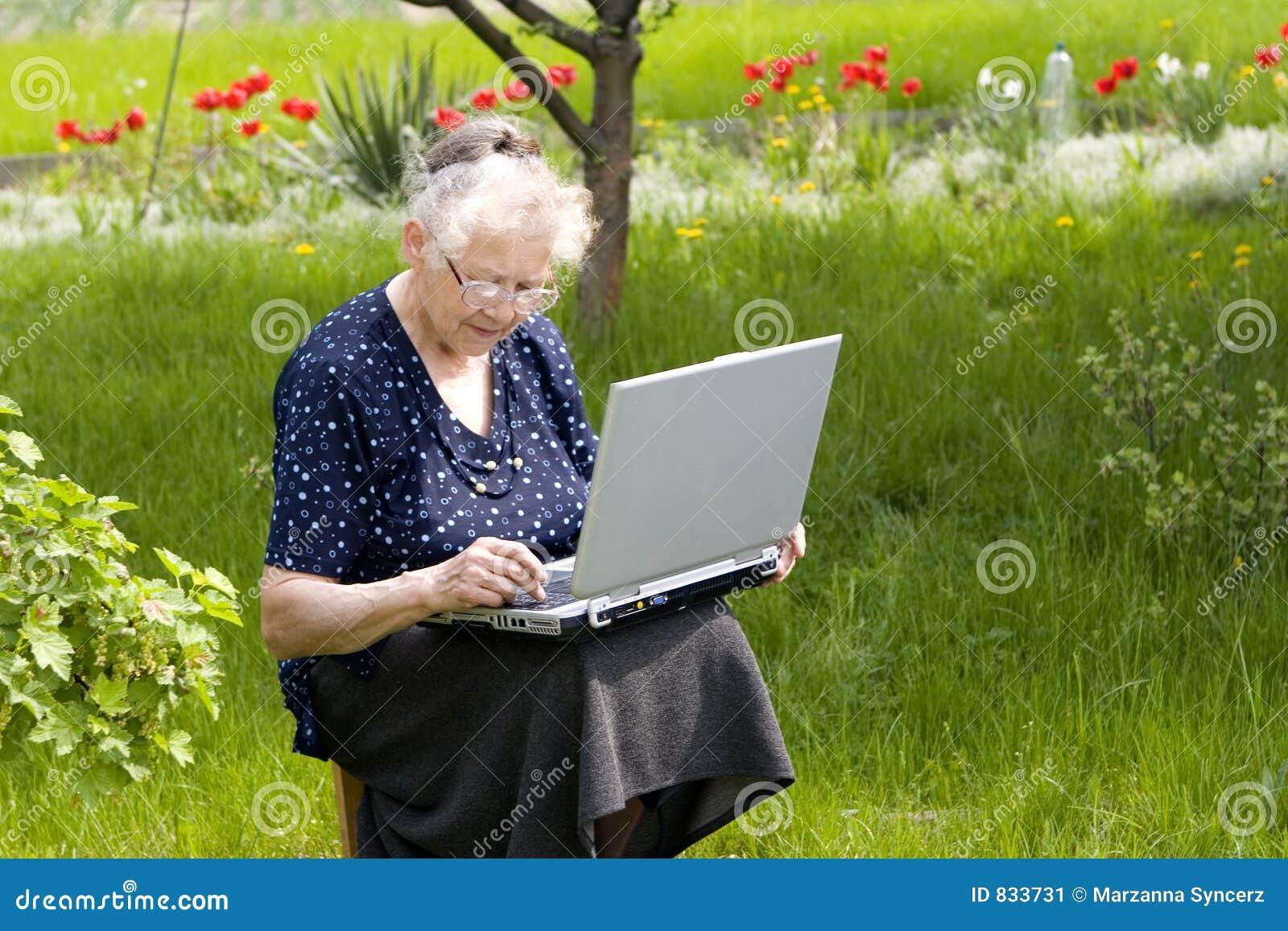 Grandma in garden