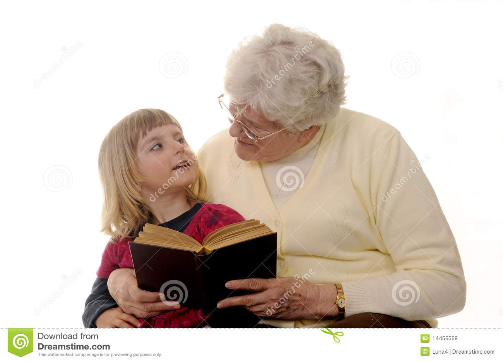 Grandma And Granddaughter Royalty Free Stock Photos - Image: 14456568