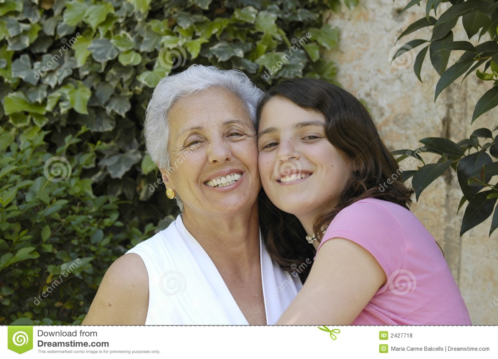 Grandma With Granddaughter Royalty Free Stock Photos - Image: 2427718
