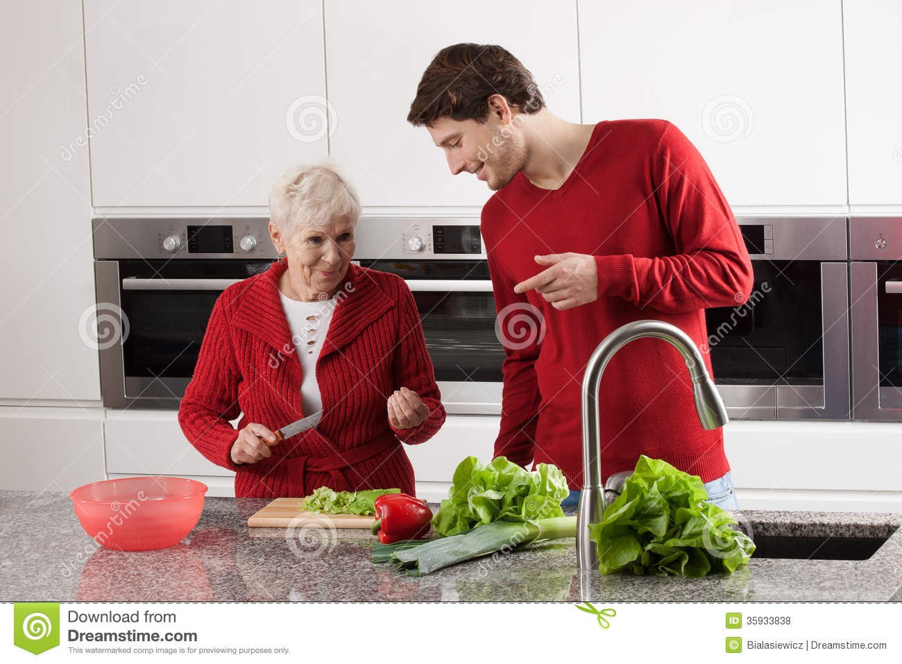 grandma and grandson cooking stock photo image of lady kitchen